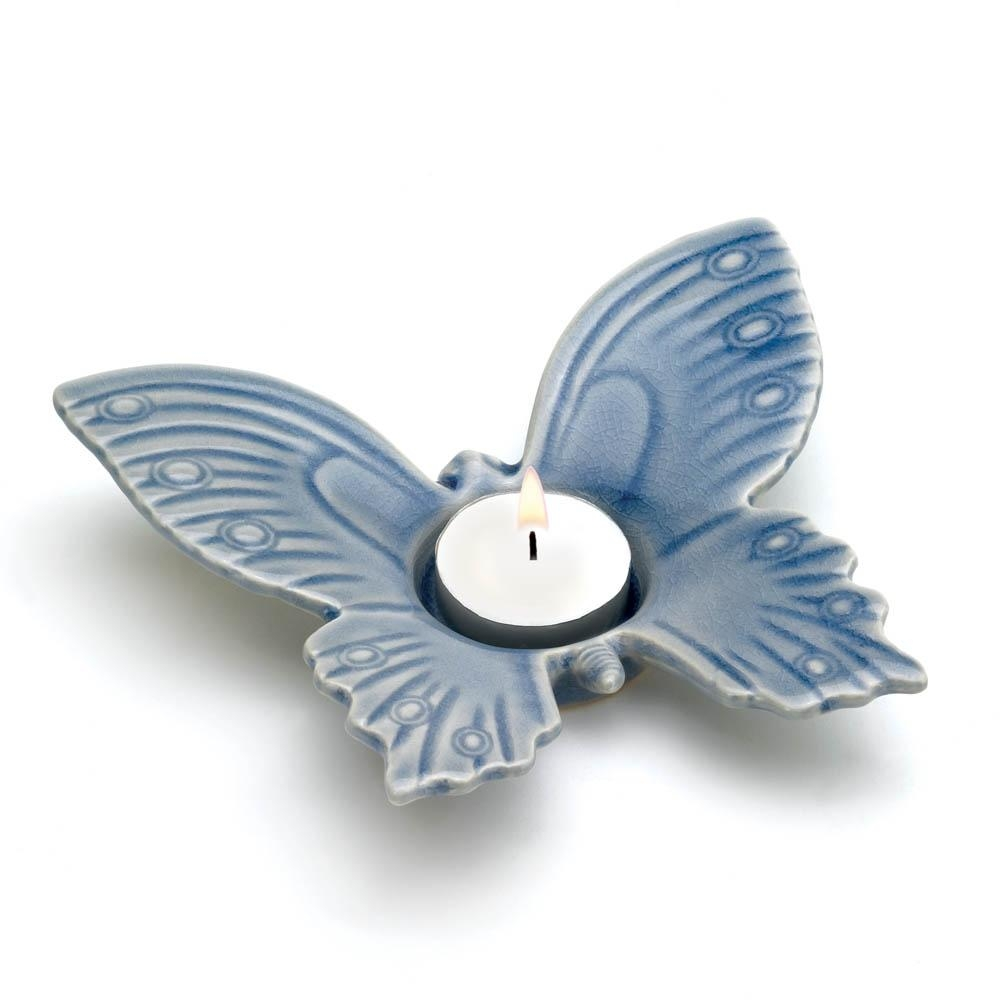 Butterfly Tealight Holder In Ceramic Butterfly Wall Art (Image 10 of 20)