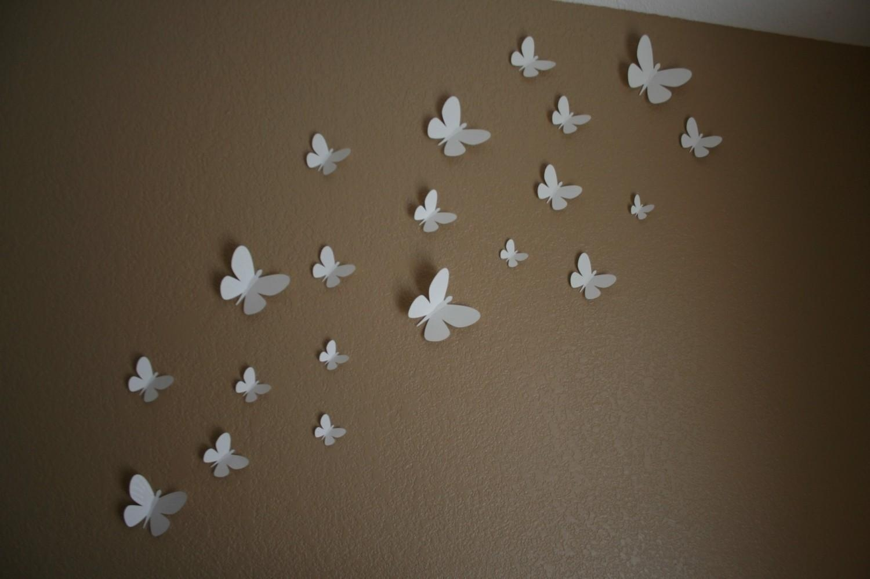 Butterfly Wall Art 3D | Wallartideas In Butterflies 3D Wall Art (Image 8 of 20)
