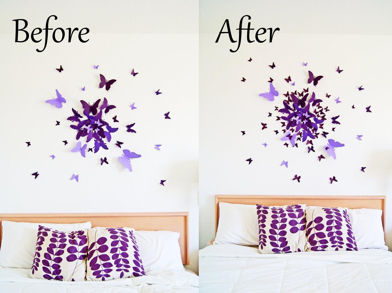 Butterfly Wall Art | Roselawnlutheran In Butterflies 3D Wall Art (Image 7 of 20)