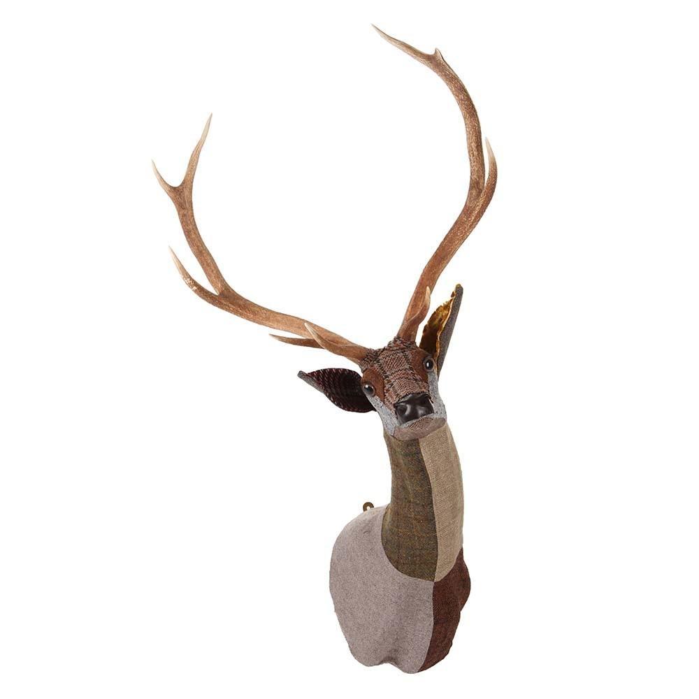 Buy Carola Van Dyke Fabric Arthur Sika Deer Head Wall Hanging | Amara With Stag Wall Art (Image 6 of 20)