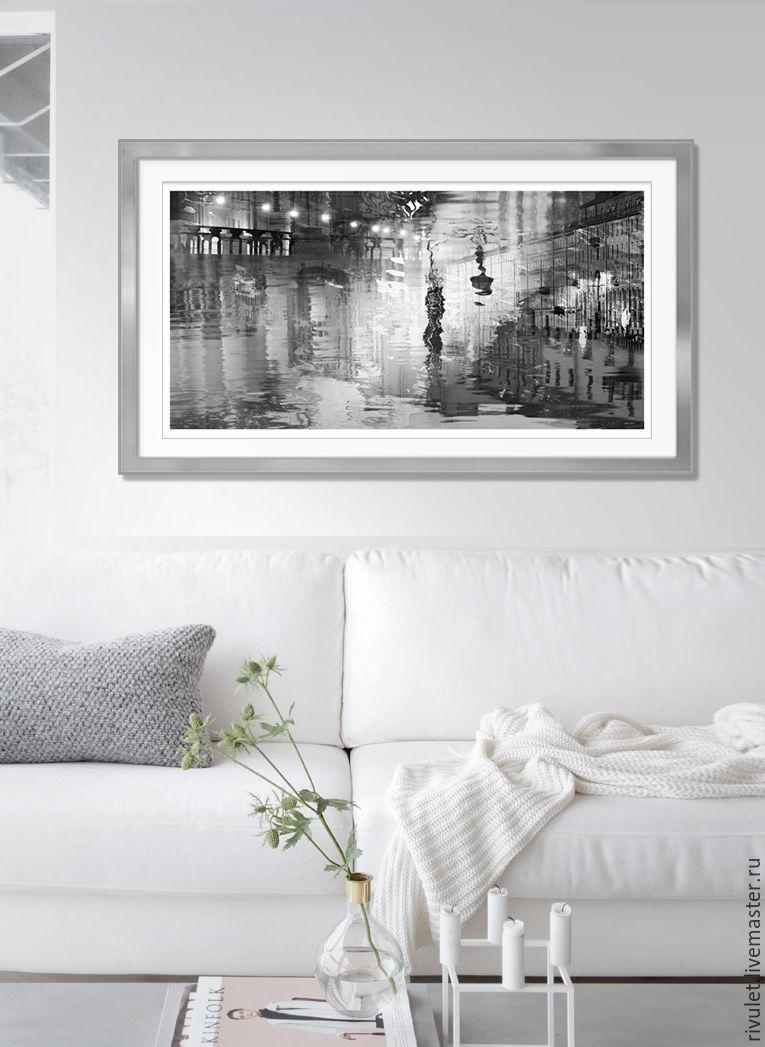 Buy Large Wall Art Print, Abstract St Petersburg Black White With Regard To Large Black And White Wall Art (Image 6 of 20)