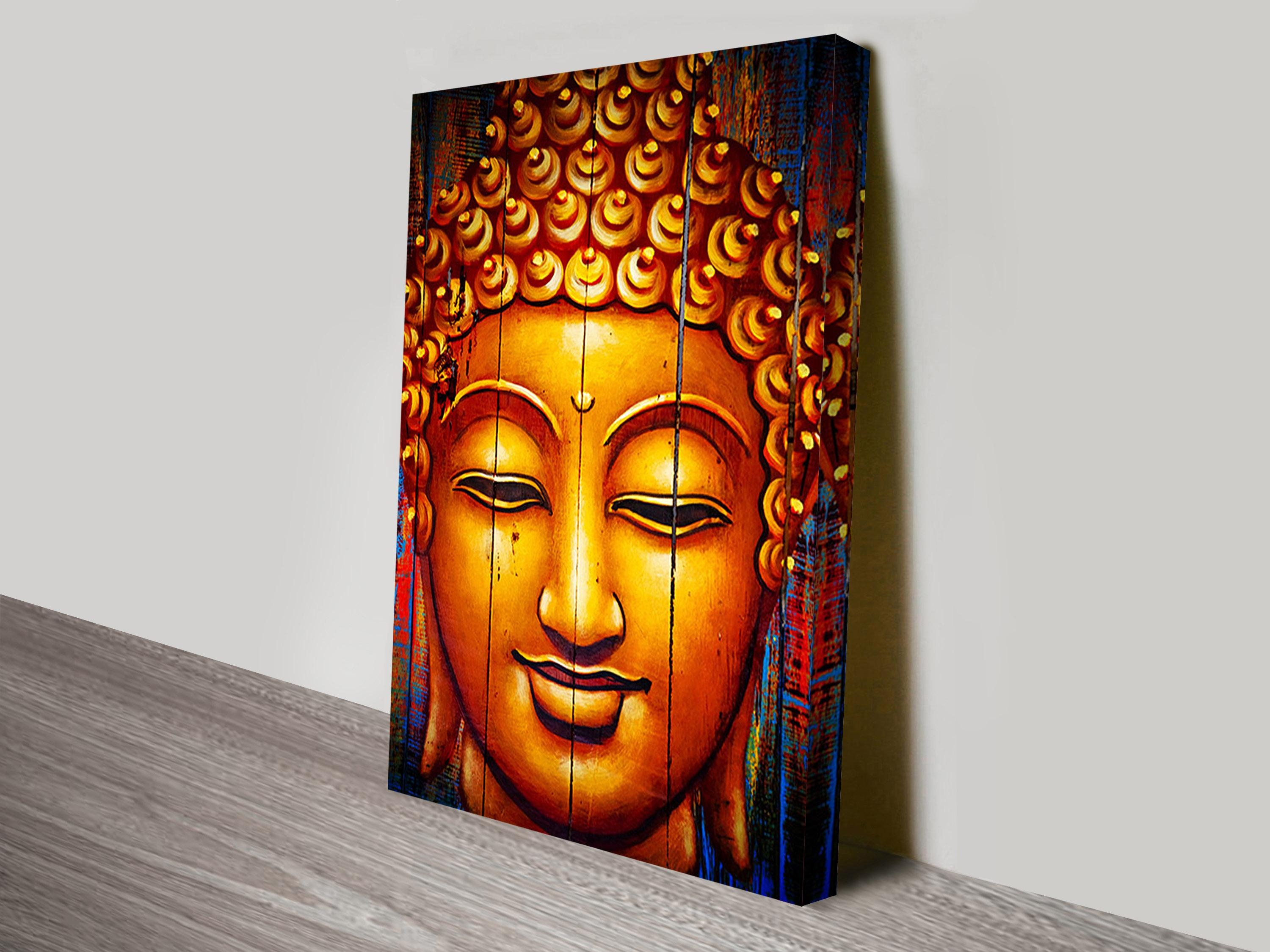 Buy Spirituality & Buddha Wrapped Canvas Prints & Wall Art Online Pertaining To Silver Buddha Wall Art (Image 6 of 20)