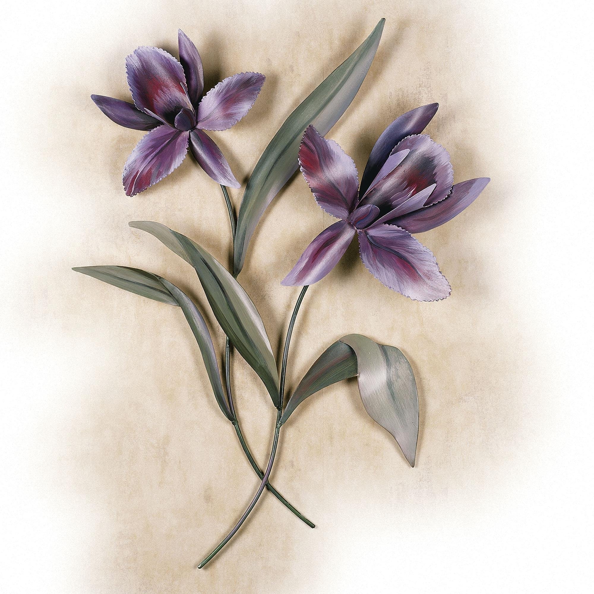 Calla Blooms Porcelain Flower Wall Art White ~ Loversiq With Regard To Purple Flower Metal Wall Art (Image 4 of 20)