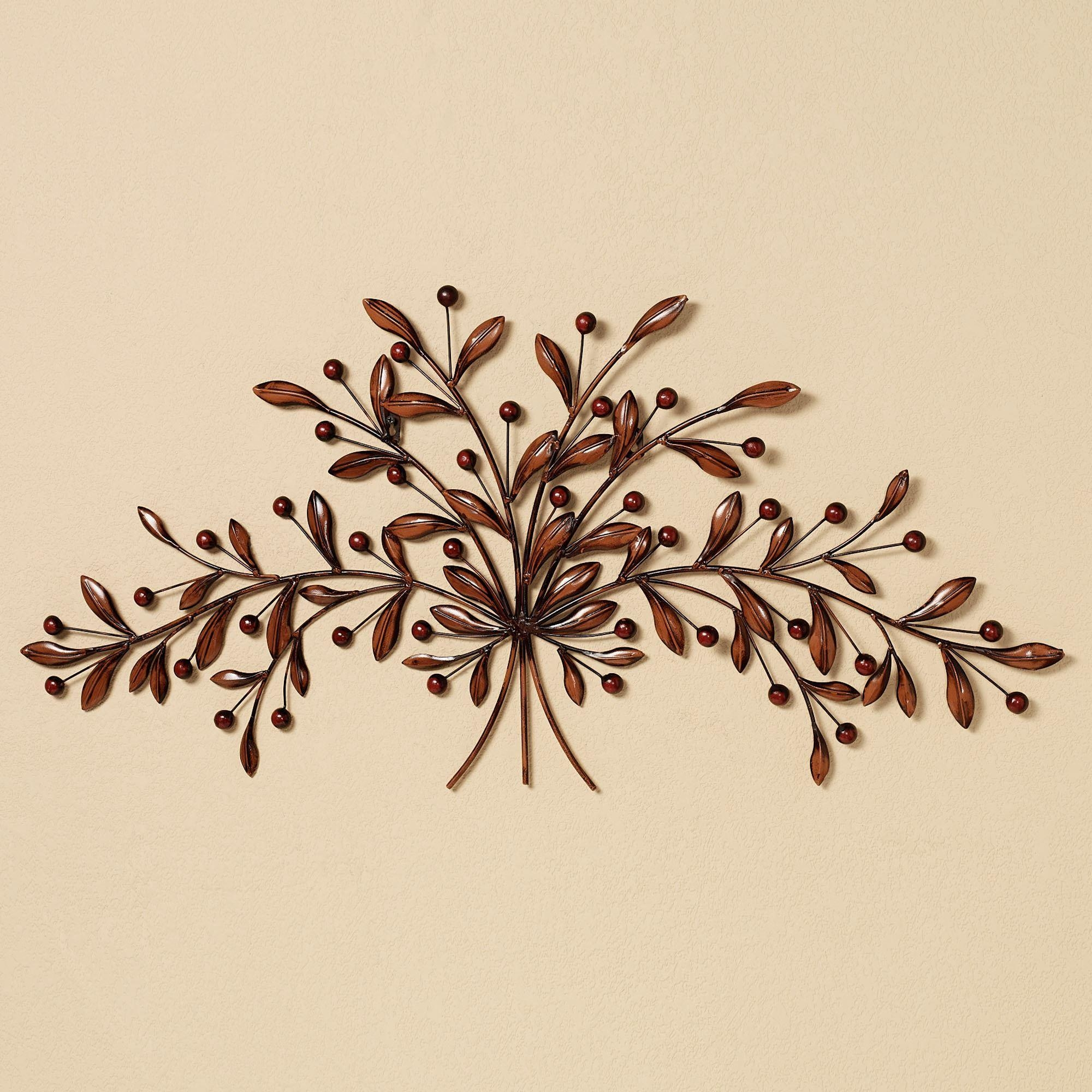 Cantabria Branch Metal Wall Art Spray Inside Metal Wall Art Trees And Branches (Image 6 of 20)