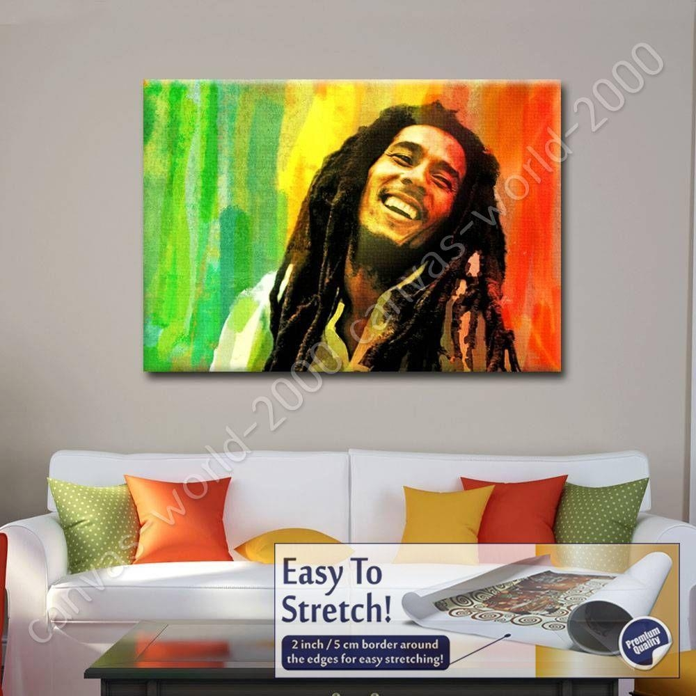 Canvas +Gift Bob Marley Jamaican Reggae Singer Alonline Designs With Bob Marley Wall Art (Image 12 of 20)