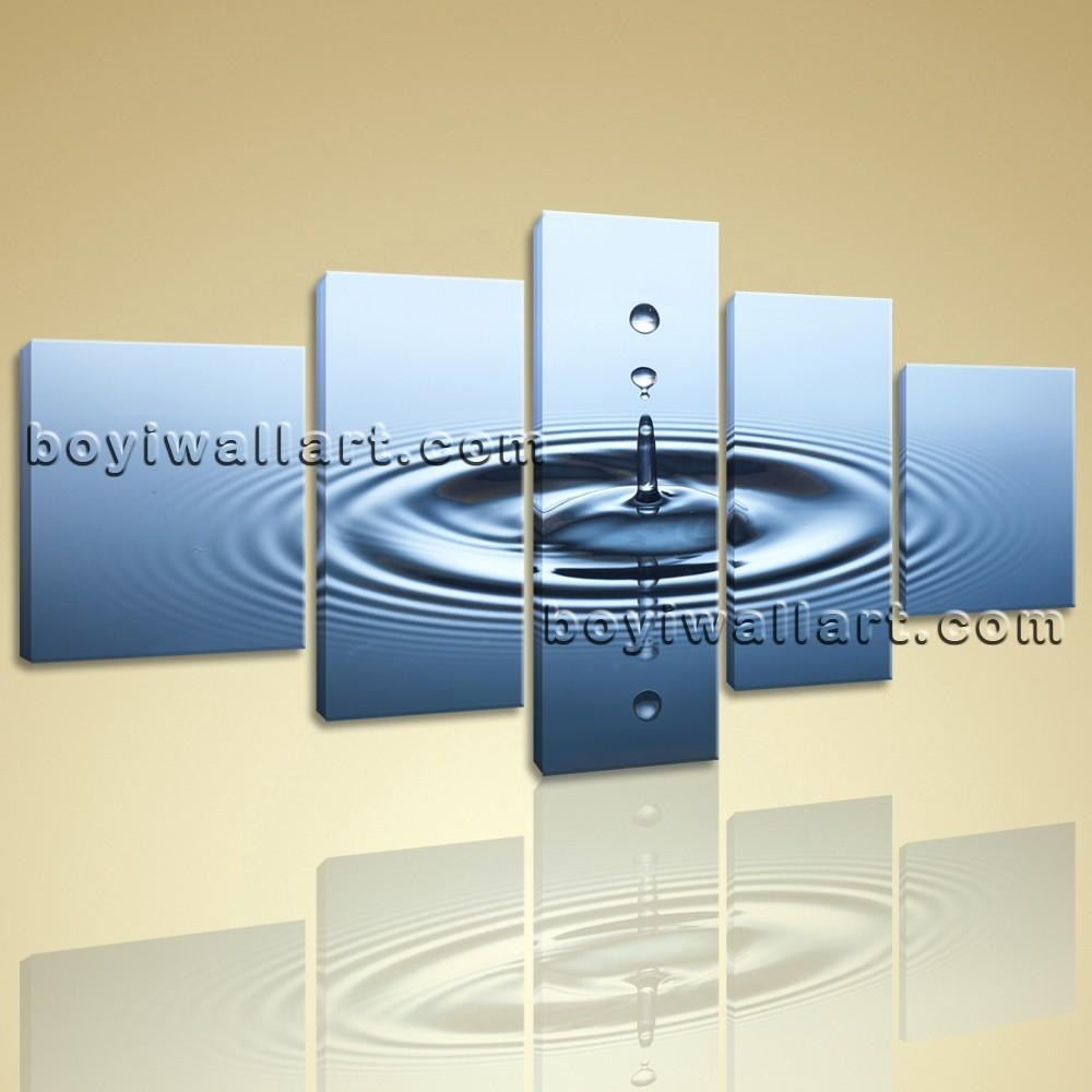 Canvas Hd Print Water Drop Contemporary Wall Art Abstract Home With Contemporary Wall Art (Image 2 of 20)