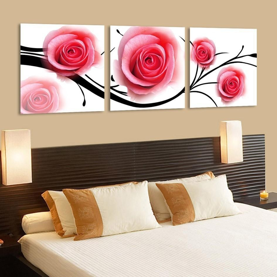 Canvas Painting For Bedrooms ~ Piazzesi Inside Rose Canvas Wall Art (Image 7 of 20)