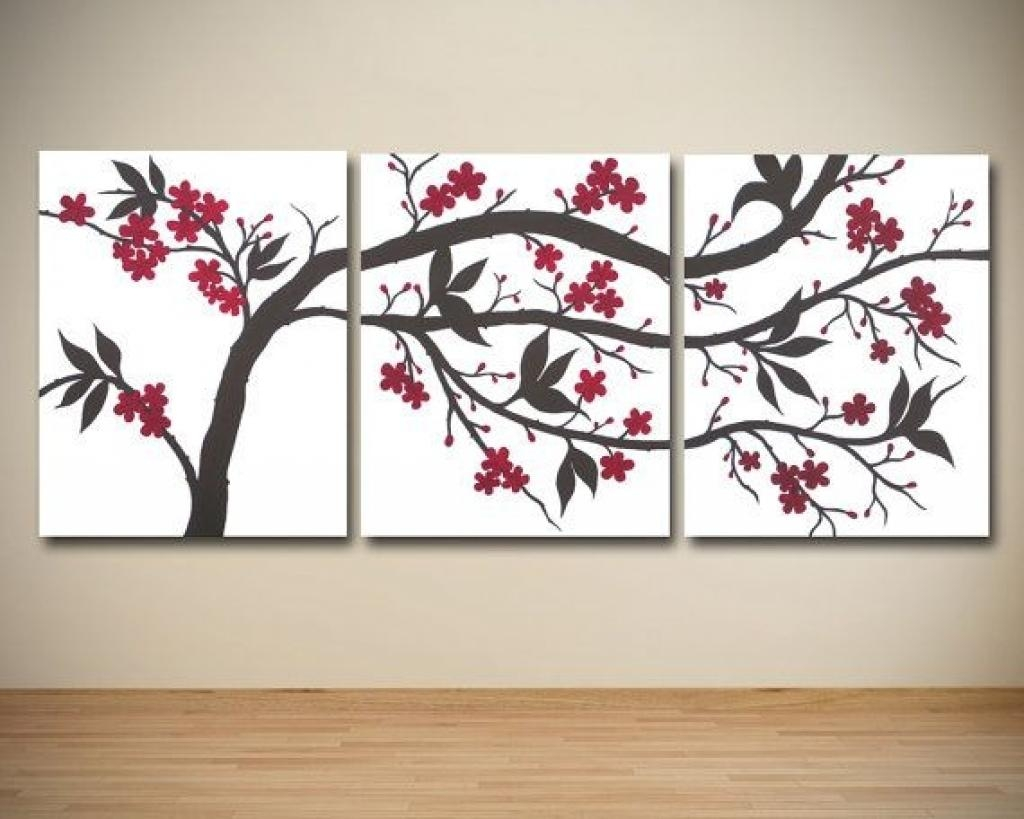 Canvas Photo Wall Art Triptych Canvas Prints Split Multi Panel Intended For Large Triptych Wall Art (Image 1 of 20)