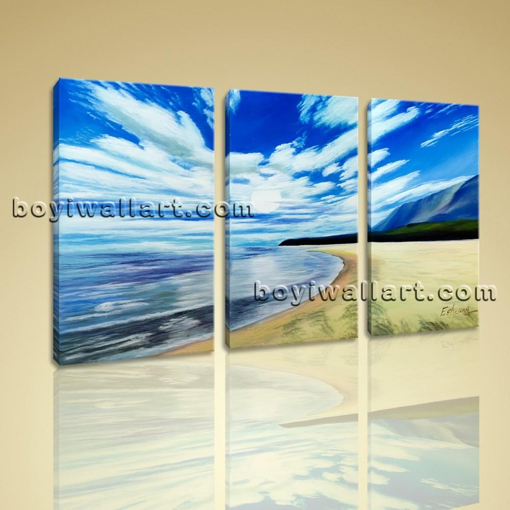 Canvas Prints Contemporary Landscape Beach Gallery Wrapped Wall Inside Beach Wall Art For Bedroom (View 15 of 20)