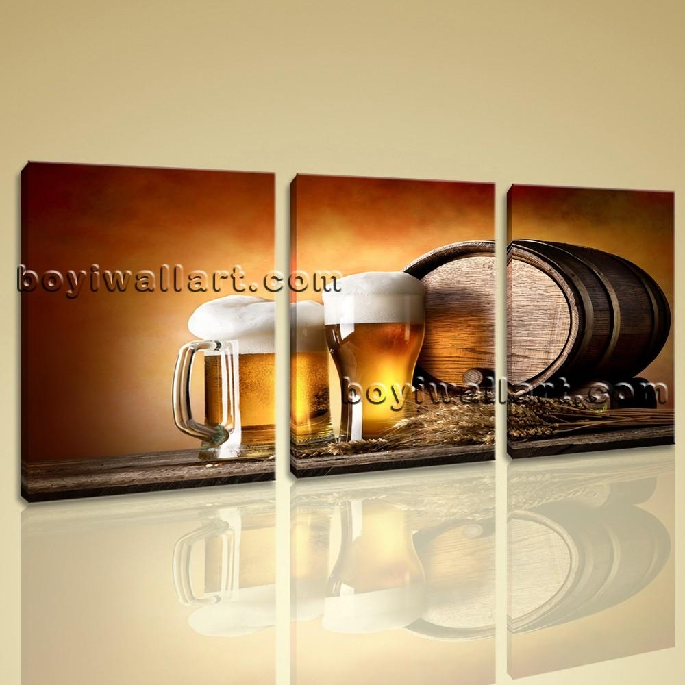 Canvas Prints Food And Beverage Beer Contemporary Home Decor Wall Art For Huge Canvas Wall Art (Image 8 of 20)