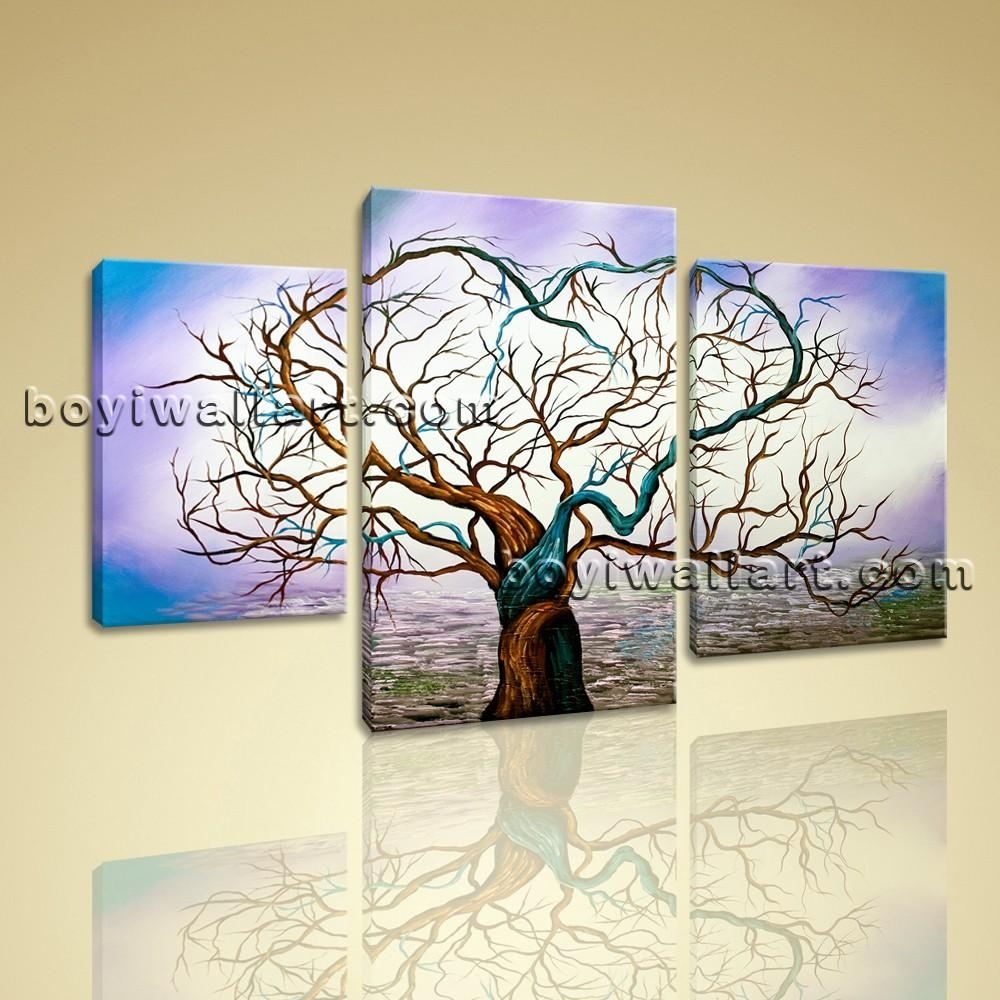 Canvas Prints Modern Abstract Wall Art Heart Love Glows Tree Pertaining To Huge Canvas Wall Art (Image 9 of 20)