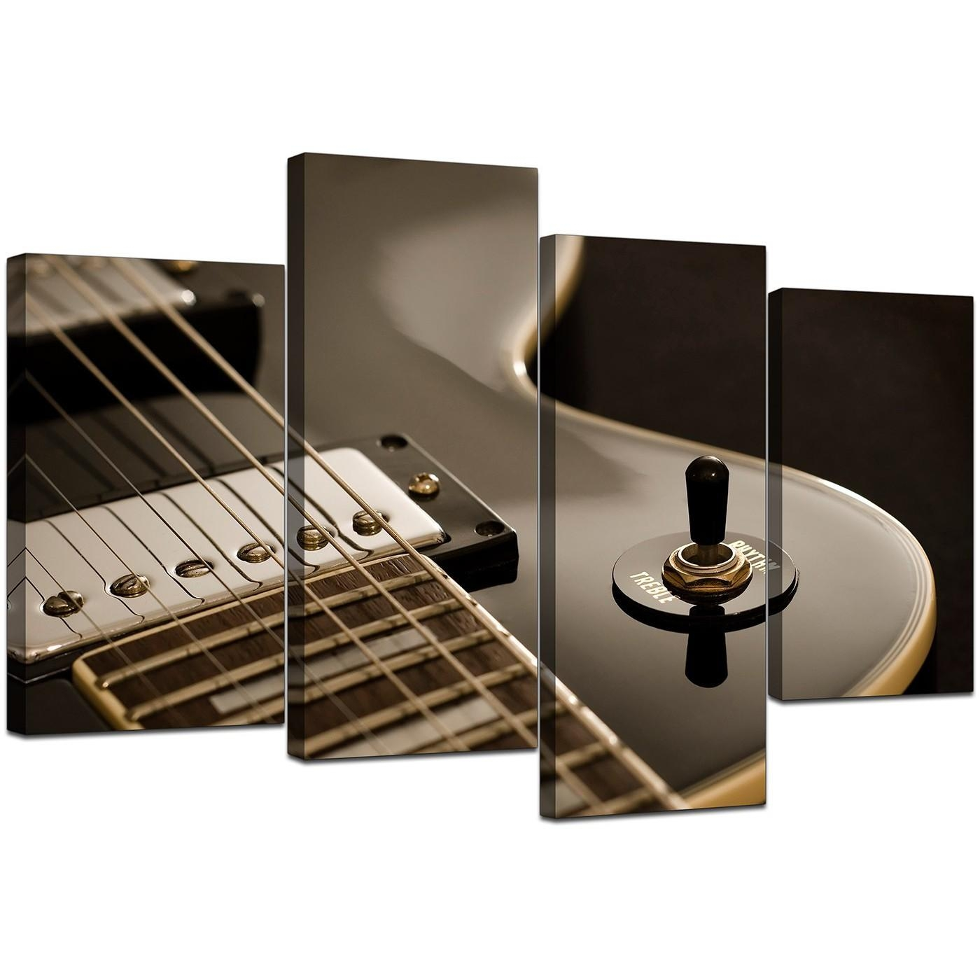 Canvas Prints Of Guitar In Black & White For Your Teenage Boys Bedroom Throughout Guitar Canvas Wall Art (View 2 of 20)