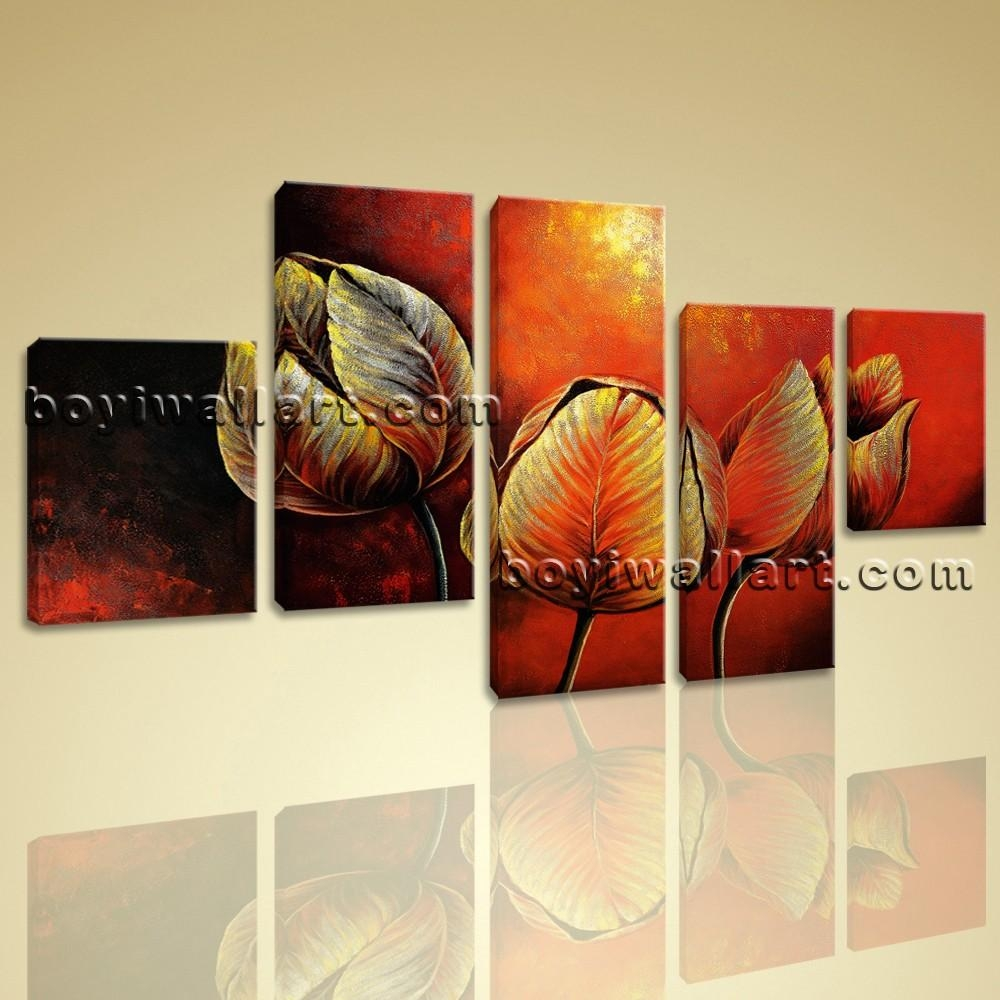 Canvas Prints Tulip Flowers Red Abstract Wall Art Framed Contemporary Regarding Huge Canvas Wall Art (Image 10 of 20)