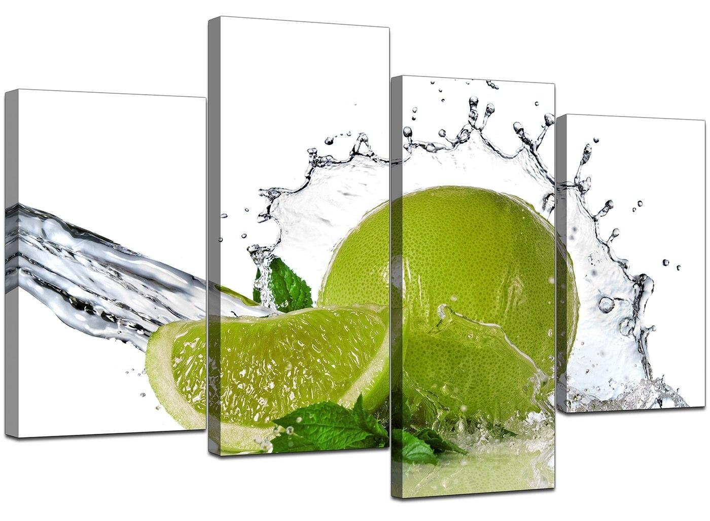 Canvas Prints Uk Of Limes In Green For Your Kitchen Throughout Lime Green Wall Art (Image 10 of 20)
