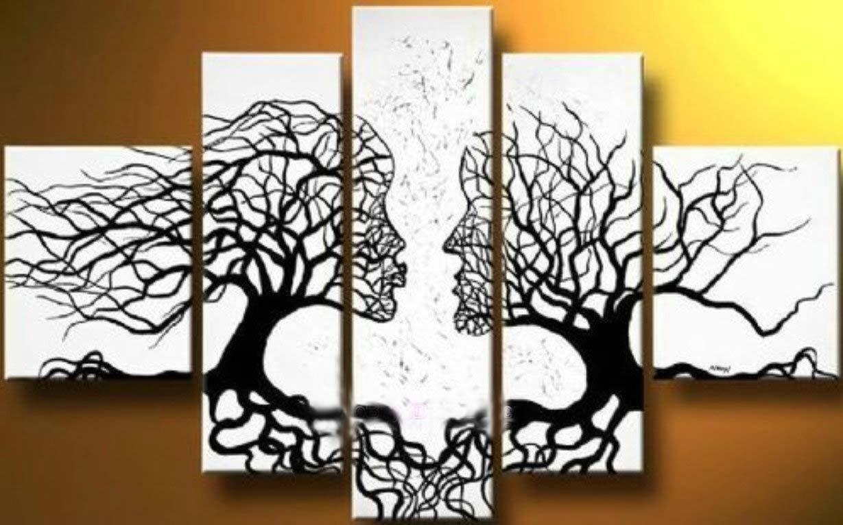Canvas Tree Art On Wall With Long Canvas Ideas (Image 4 of 20)
