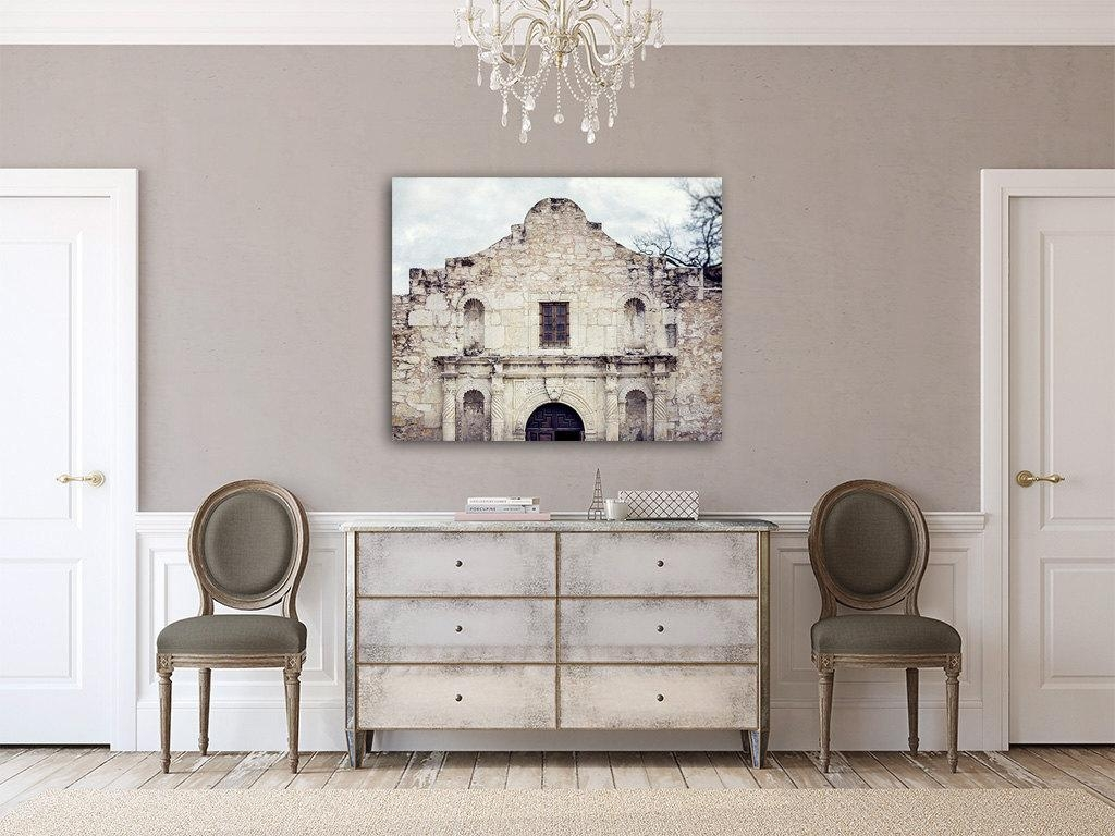 Canvas Wall Art: Alamo Canvas Wall Art The Alamo Spanish Within Shabby Chic Canvas Wall Art (Image 5 of 20)