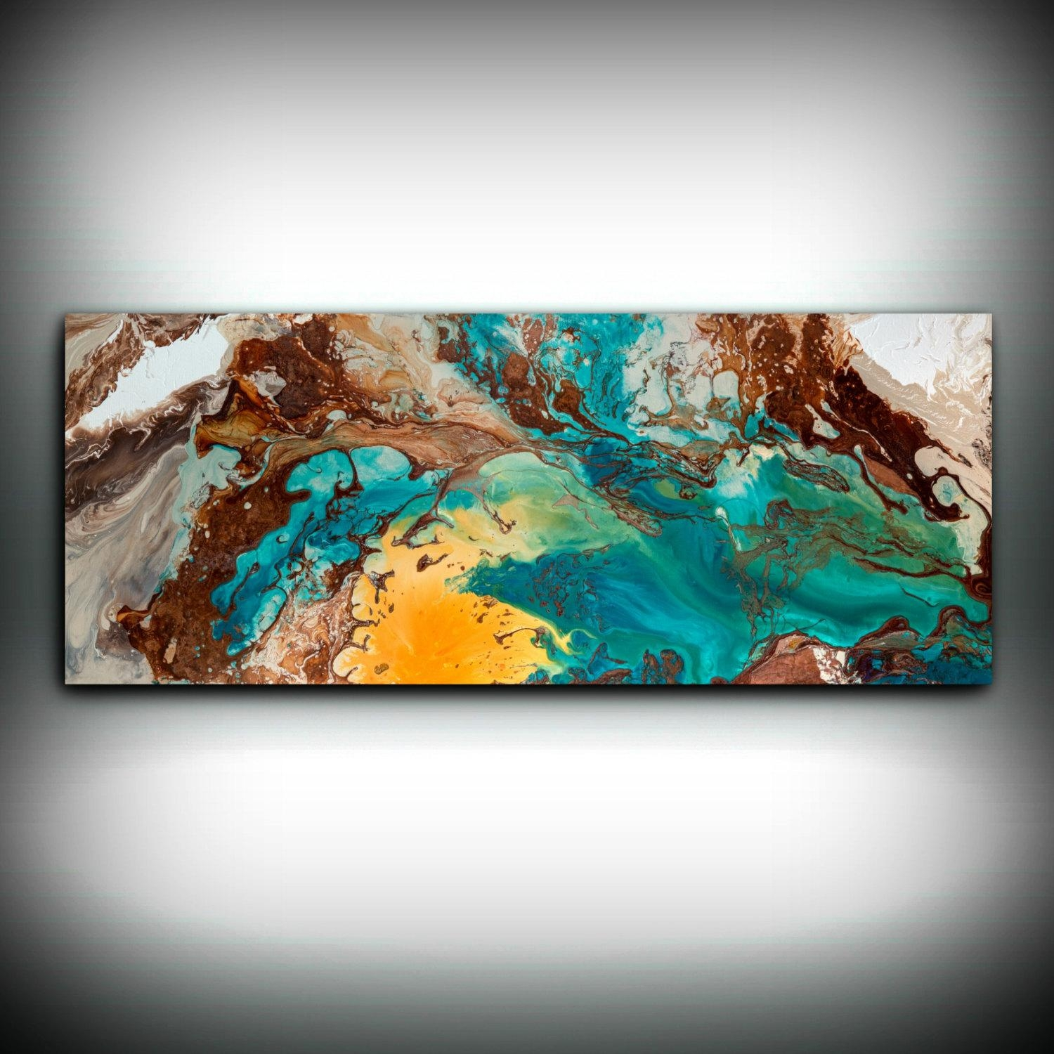 Canvas Wall Decor Large Abstract Wall Art Print Blue Brown Modern With Regard To Oversized Modern Wall Art (View 16 of 20)