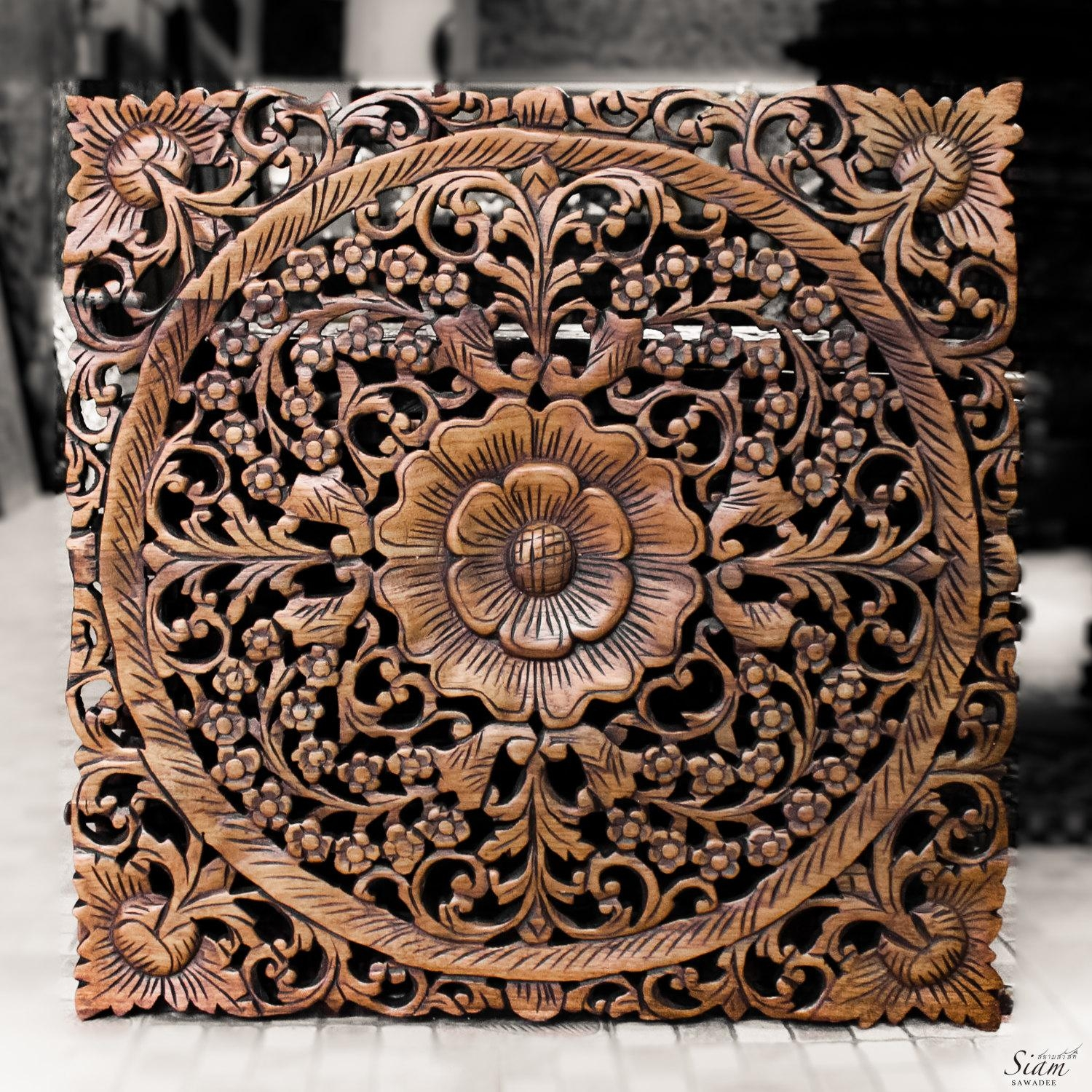 Carved Wood Wall Decor Web Art Gallery Carved Wood Wall Decor In Asian Wall Art Panels (Image 8 of 20)