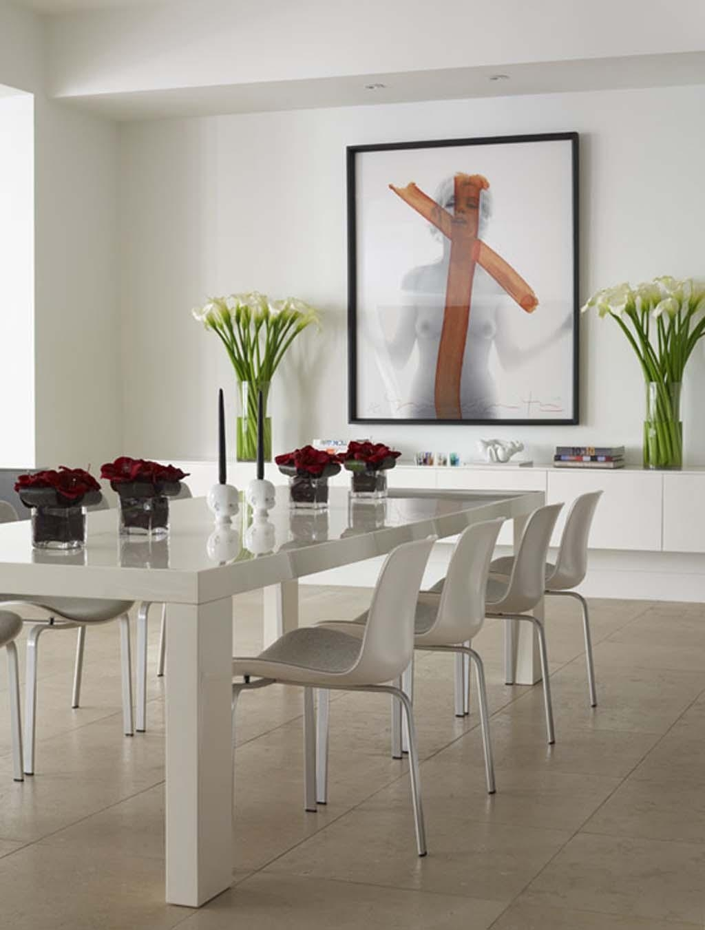 Casual Dining Room Decorating Ideas Is Embellished With White In Wall Art For Dining Room (View 15 of 20)