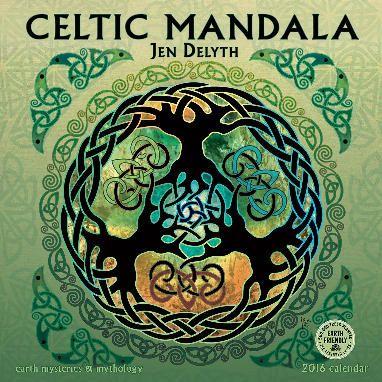 Celtic Mandala 2016 Wall Calendar 11.5 X  (Image 4 of 20)
