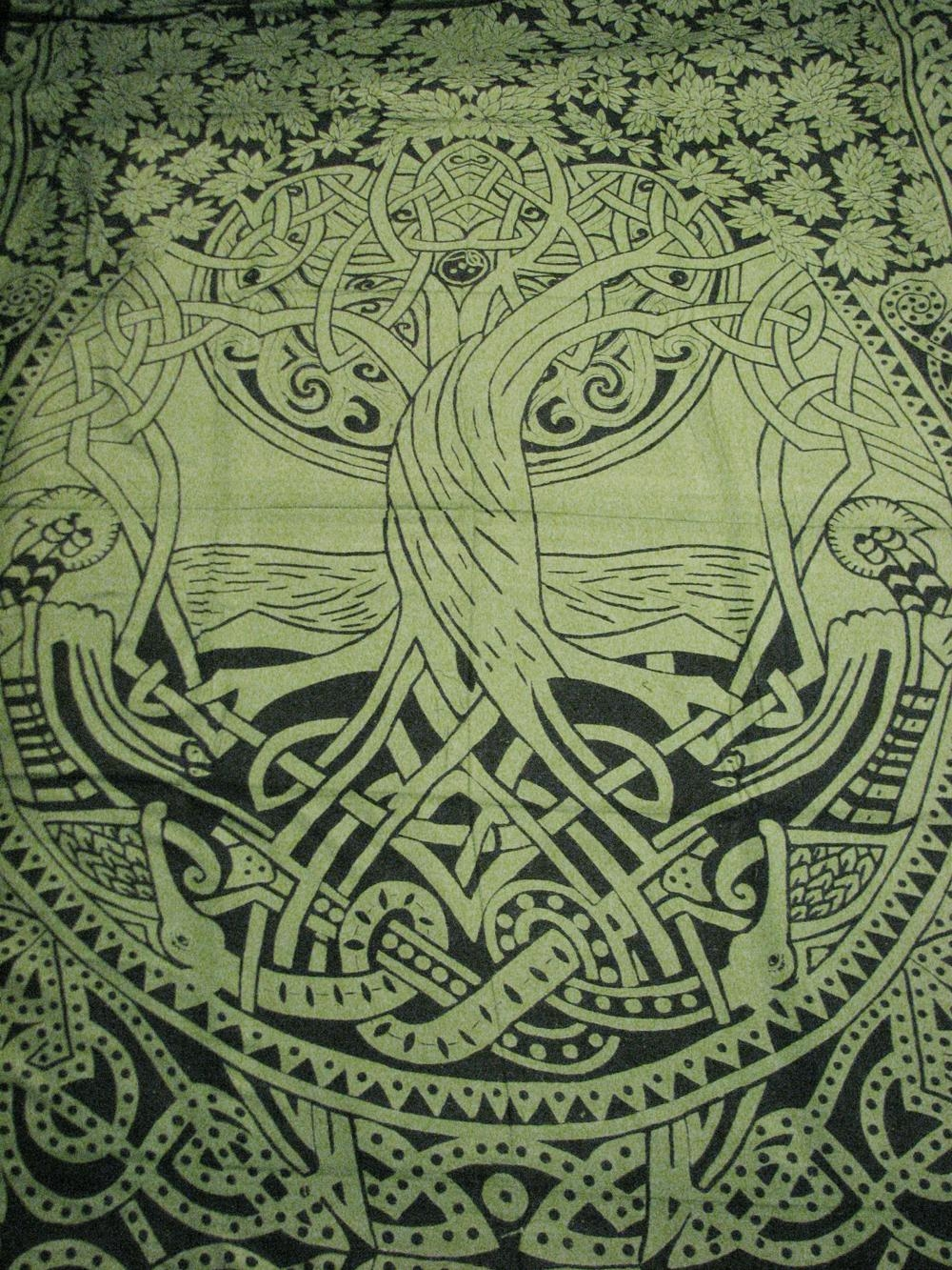 Celtic Tree Of Life Infinity Knot Druid Pagan Tapestry Wall With Celtic Tree Of Life Wall Art (Image 6 of 20)