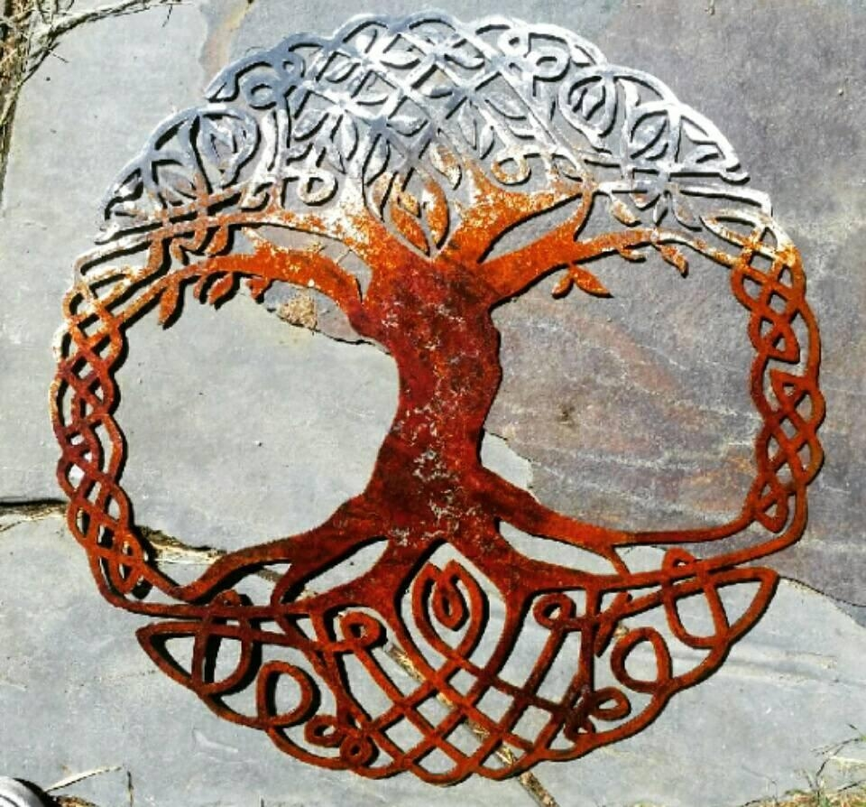 Celtic Tree Of Life Metal Wall Art Living Room Decor Recycled With Regard To Celtic Tree Of Life Wall Art (View 13 of 20)
