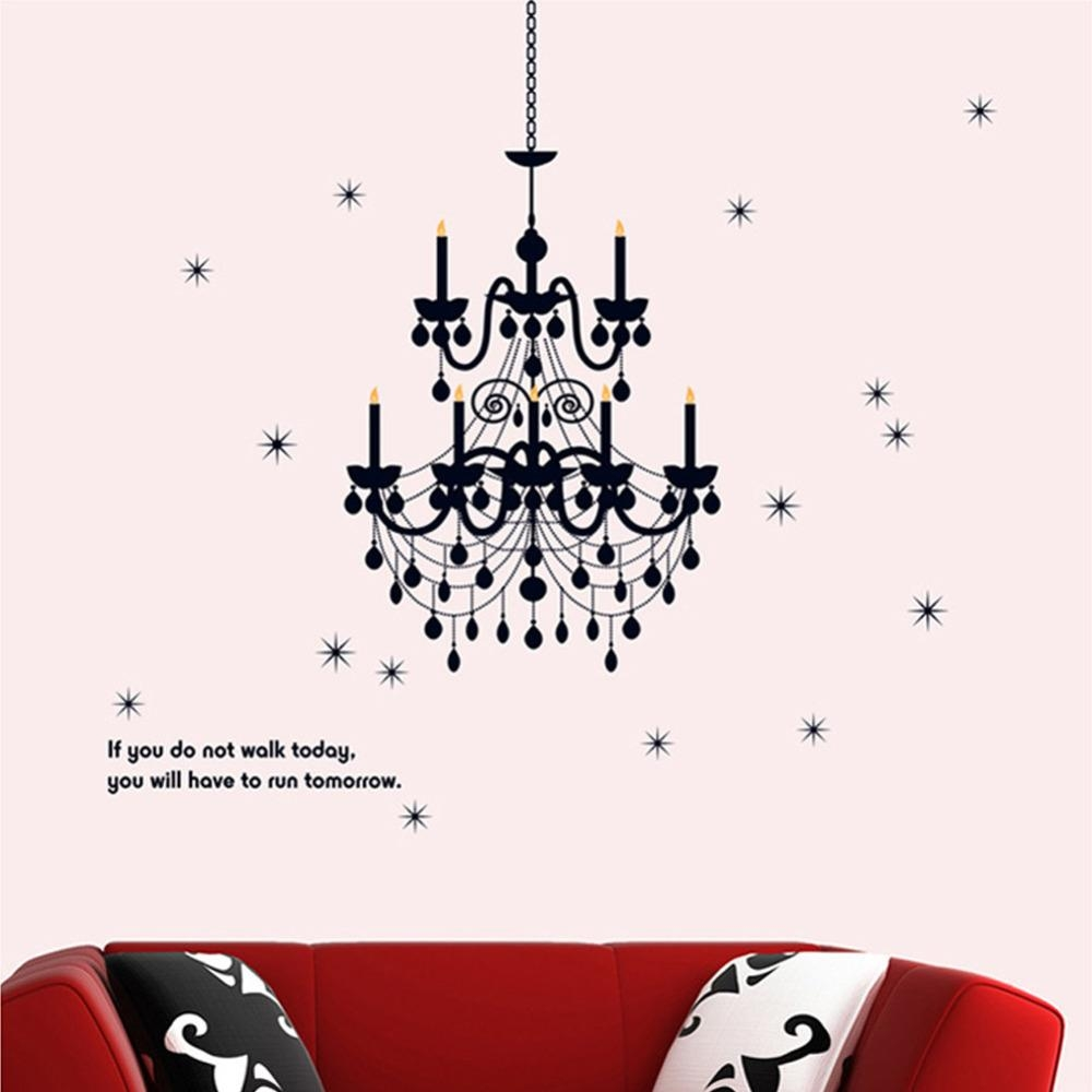 Chandelier Lighting Fancy Wall Decal Vinyl Art Words Sticker Art Inside Classy Wall Art (Image 5 of 20)