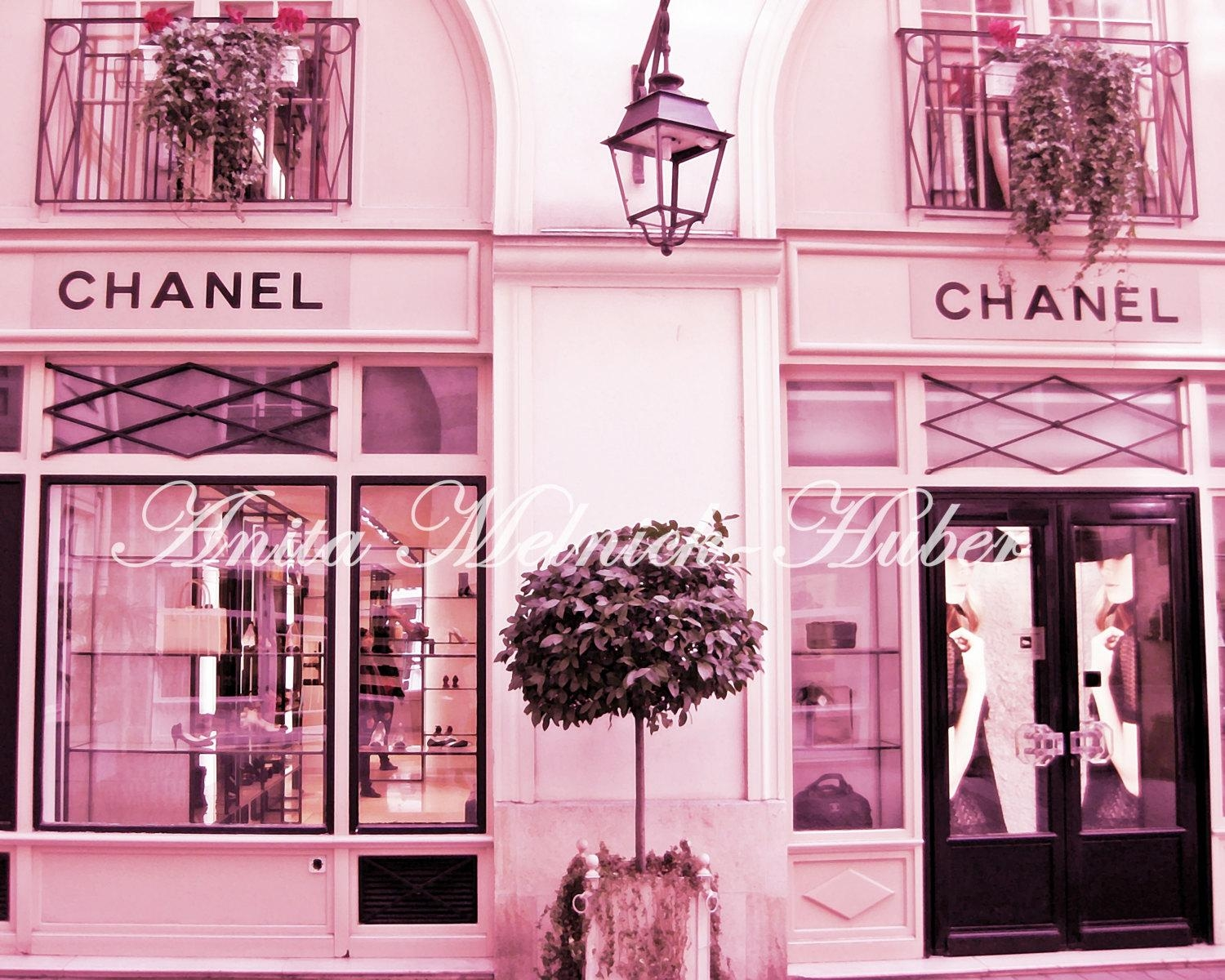 Chanel Print Paris In Pink Paris Wall Art Fashion Pertaining To Paris Theme Nursery Wall Art (View 11 of 20)