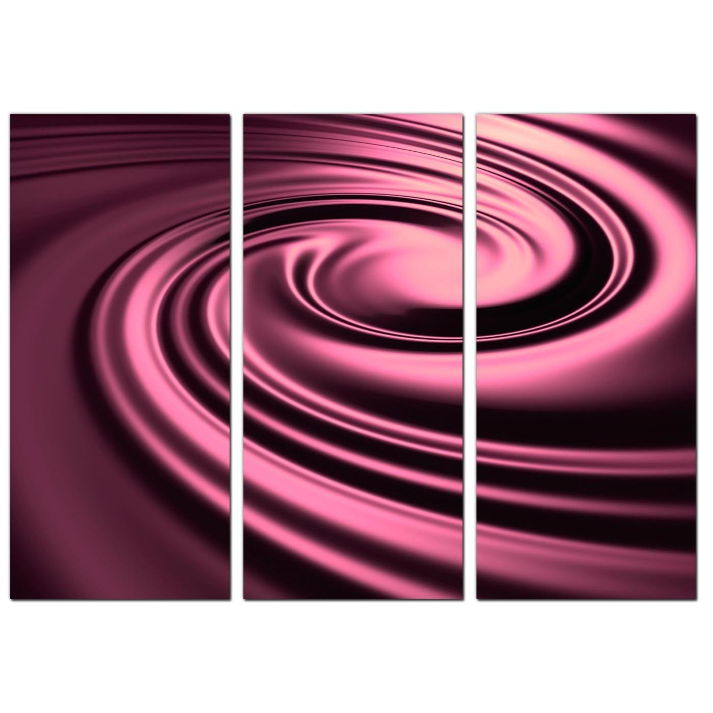 Cheap Abstract Canvas Wall Art 3 Part In Plum With Regard To Plum Wall Art (Image 7 of 20)