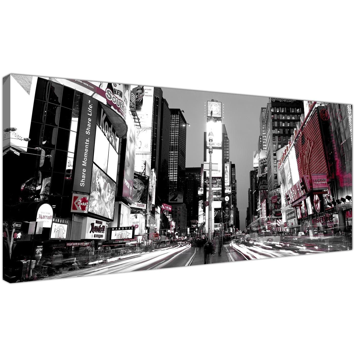 Cheap Black And White Canvas Prints Of New York Times Square Pertaining To Black And White New York Canvas Wall Art (Image 6 of 20)