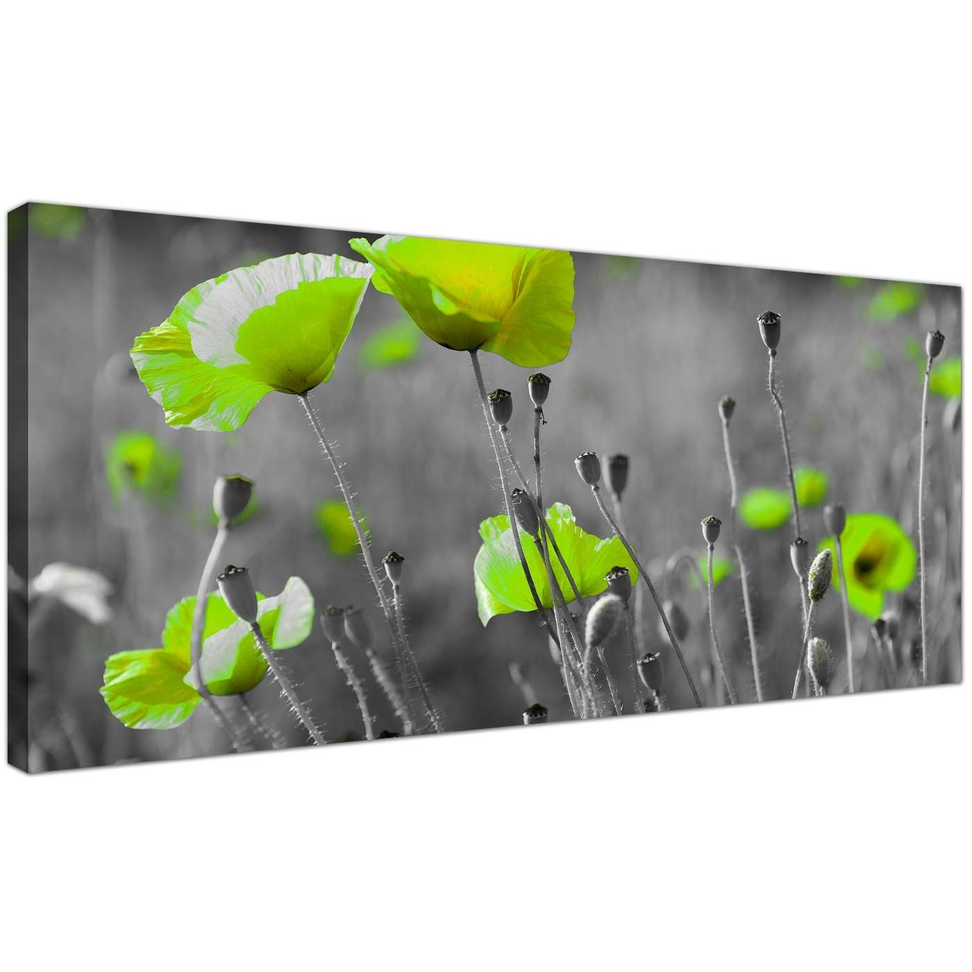 Cheap Black And White Canvas Wall Art Of Green Poppies In Green Canvas Wall Art (Image 12 of 20)