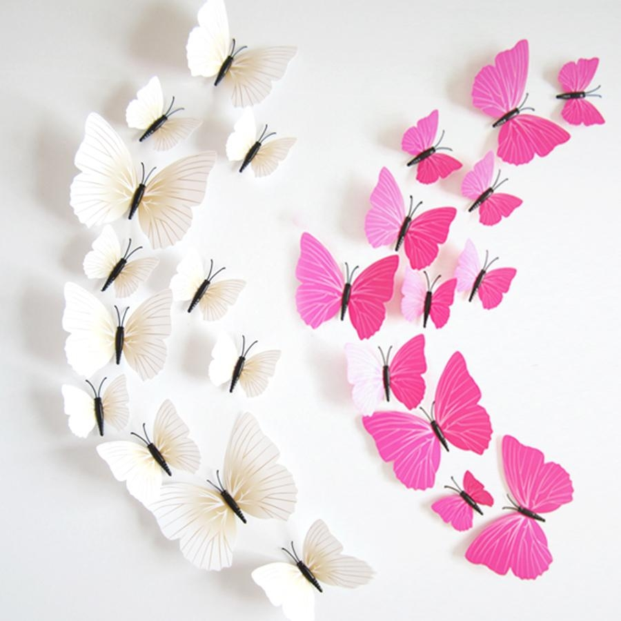 Cheap Butterfly Wall Art 3D, Find Butterfly Wall Art 3D Deals On Pertaining To Pink Butterfly Wall Art (View 11 of 20)