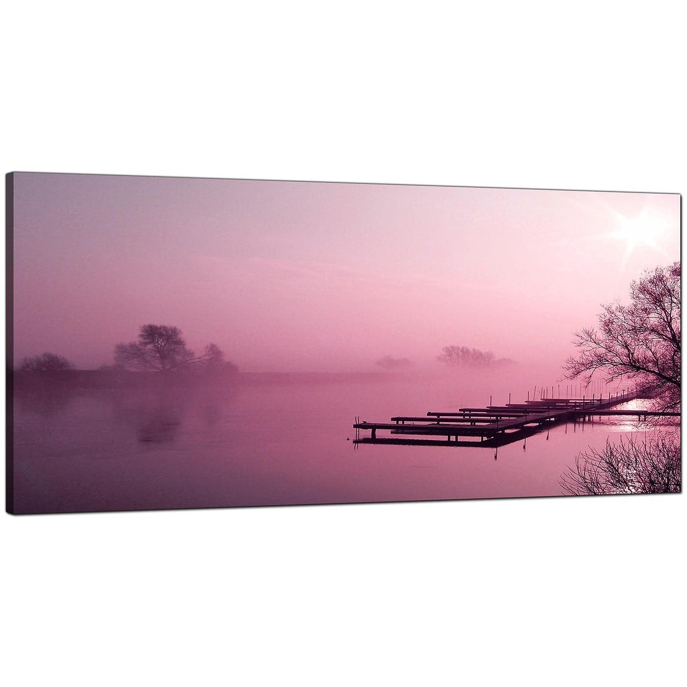 Cheap Plum Canvas Prints Of A River Landscape Pertaining To Plum Coloured Wall Art (View 10 of 20)
