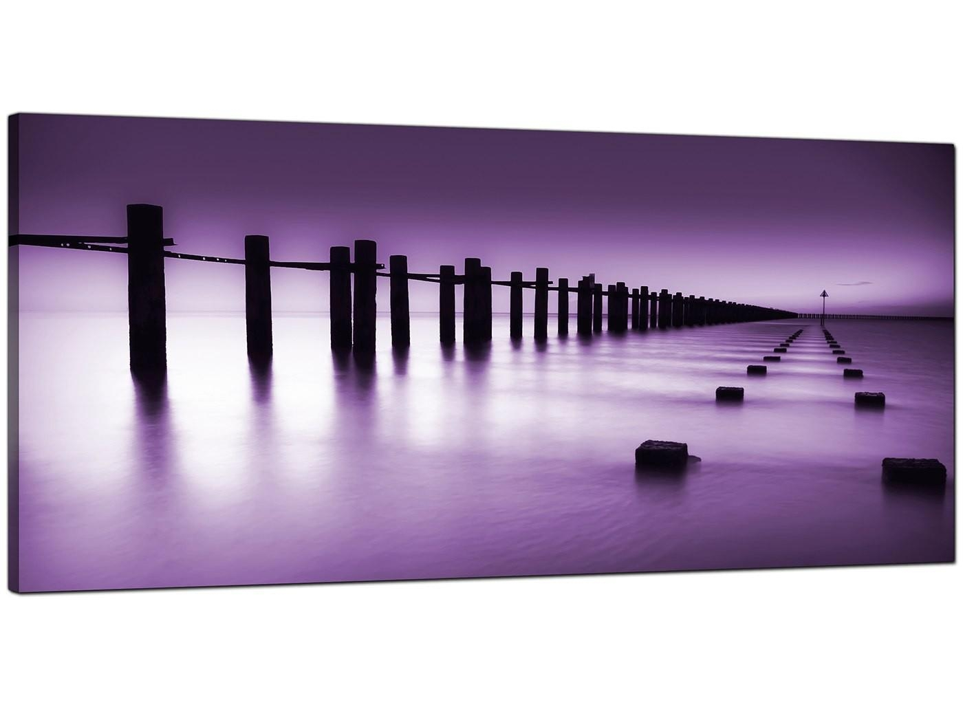Cheap Purple Canvas Prints Of The Seaside Throughout Purple Canvas Wall Art (View 5 of 20)