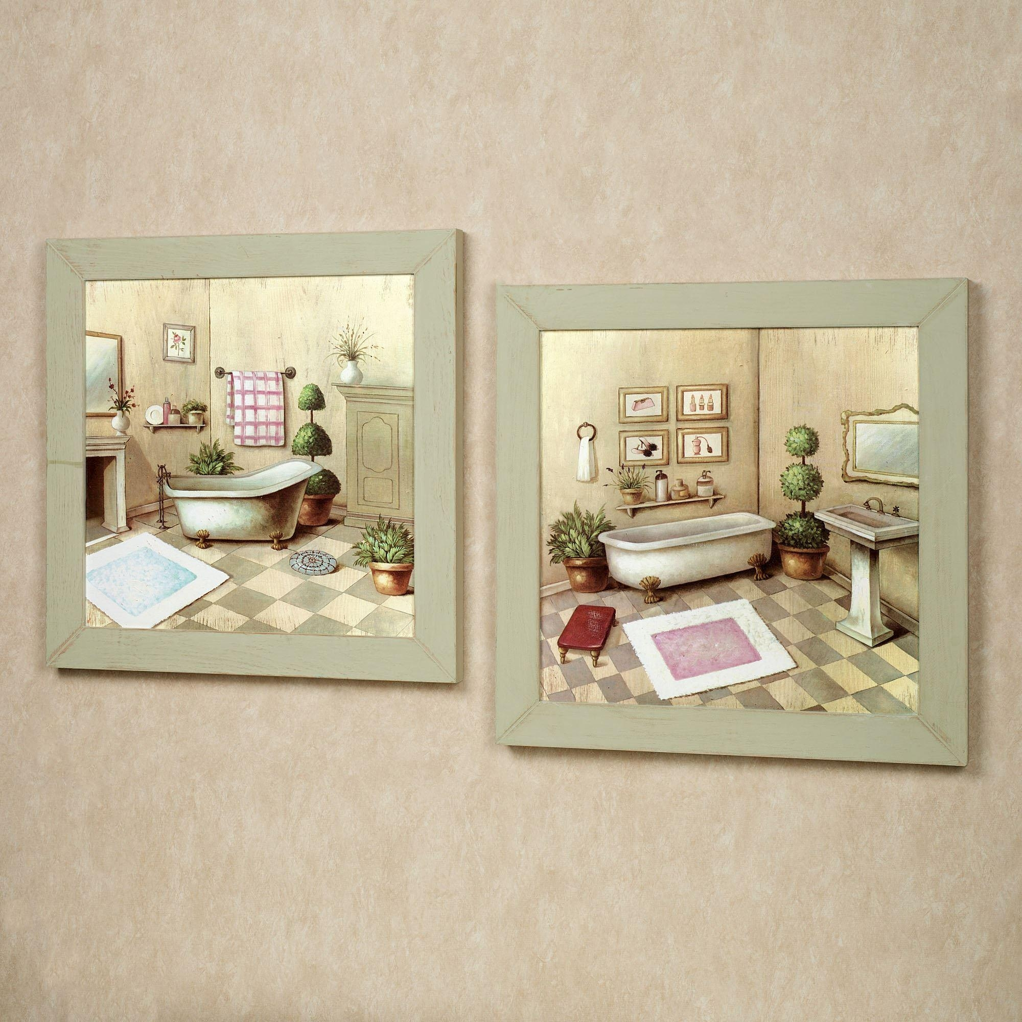 Chic Bathroom Wall Art For Unique Bathing E With Decor Decorations In Country French Wall Art (Image 6 of 20)