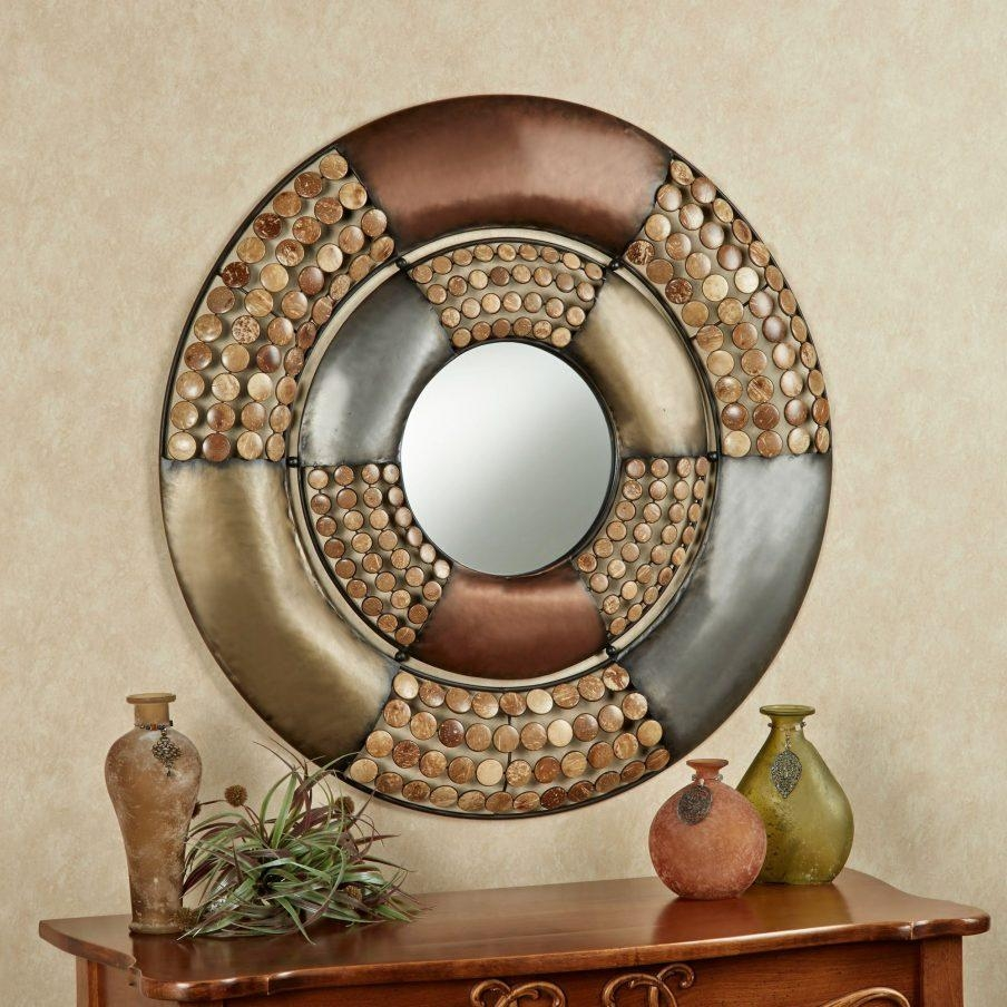 Chic Red Circle Metal Wall Art Peace Symbol Metal Wall Round Metal Inside Large Round Wall Art (Image 2 of 20)