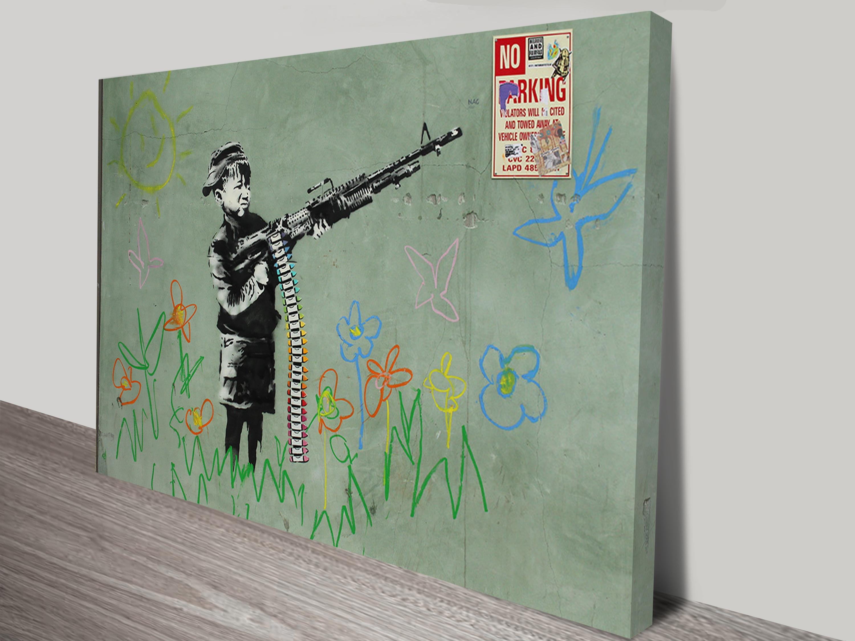 Child Soldiers Wall Art Print Regarding Banksy Wall Art Canvas (Image 14 of 20)