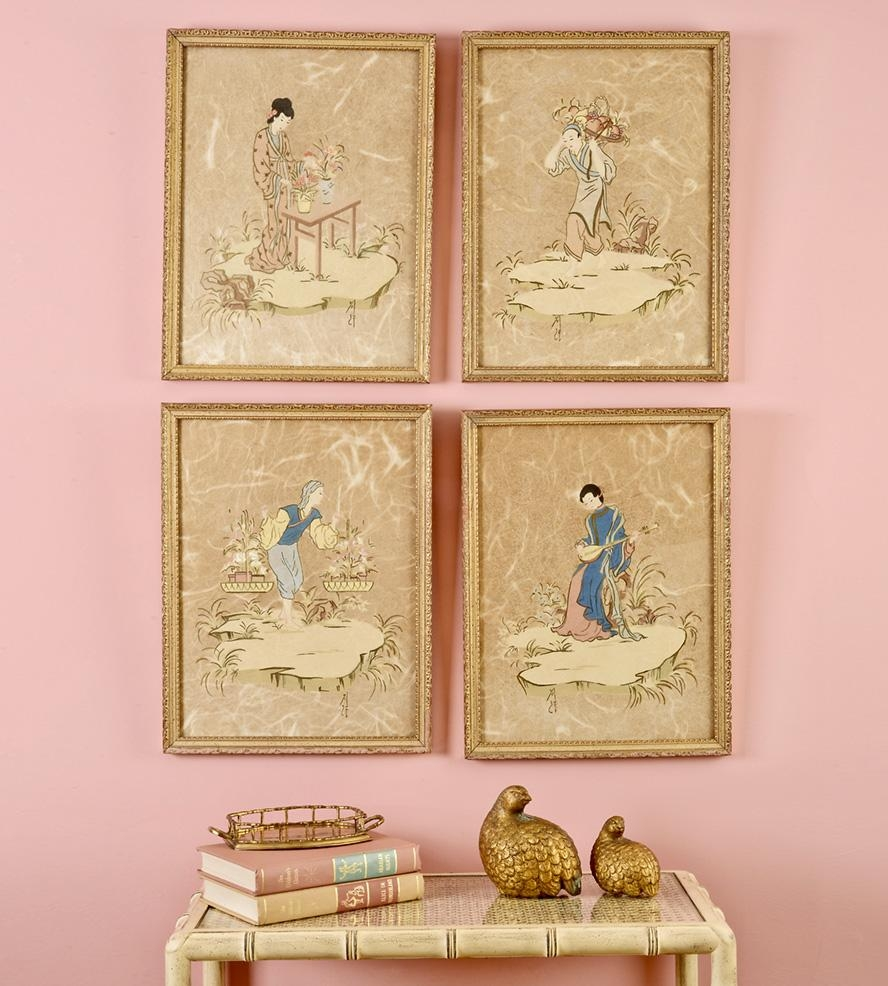 Chinoiserie Wall Vignette Set | Home Decor & Lighting | Finder Not Regarding Chinoiserie Wall Art (View 3 of 20)