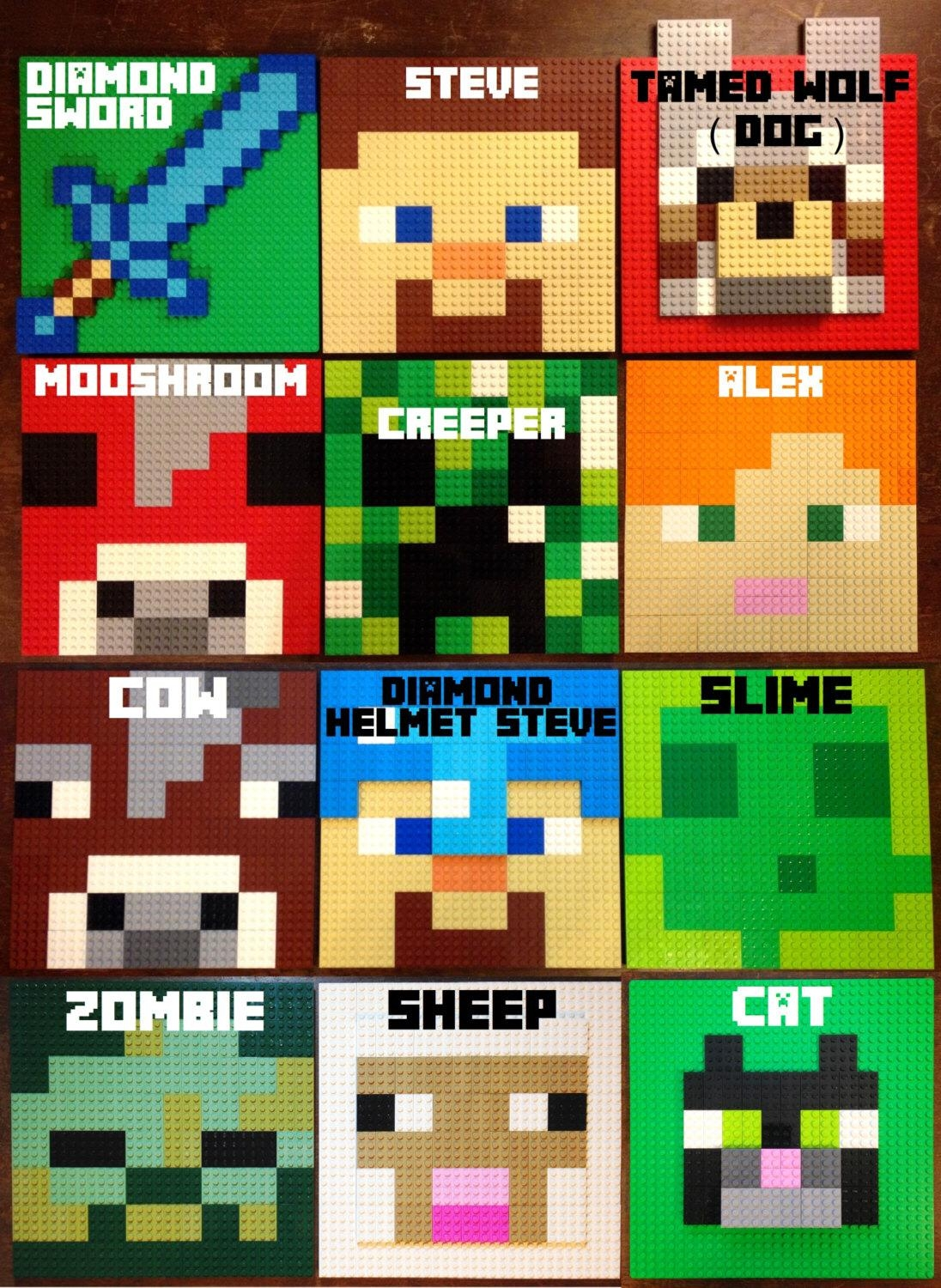 Choose 3 Pixel Letter Lego® Wall Art W/ Background, | Idealpin Within Pixel Mosaic Wall Art (View 19 of 20)