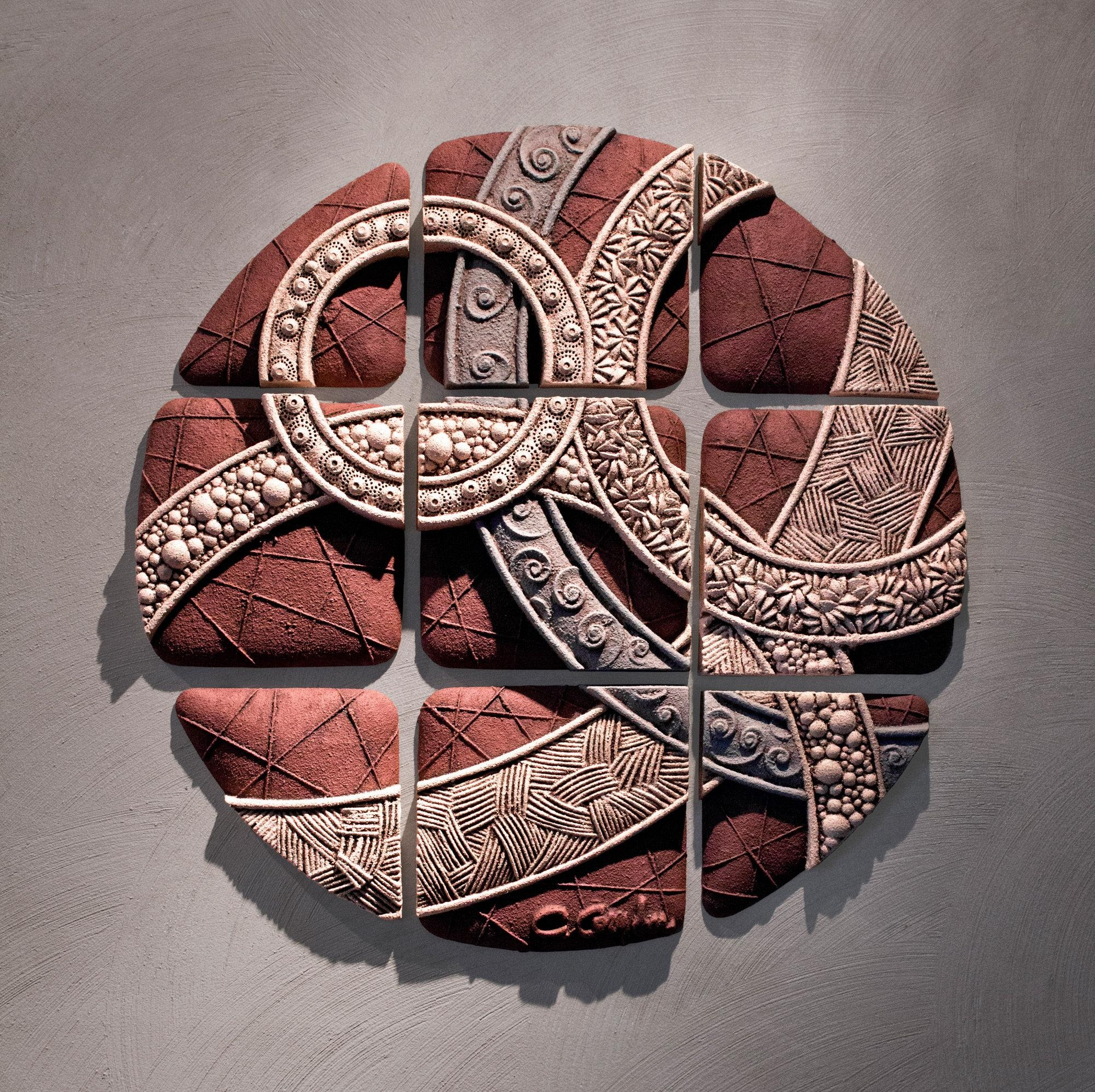 Circle Geometrychristopher Gryder (Ceramic Wall Sculpture Regarding Large Ceramic Wall Art (View 12 of 20)