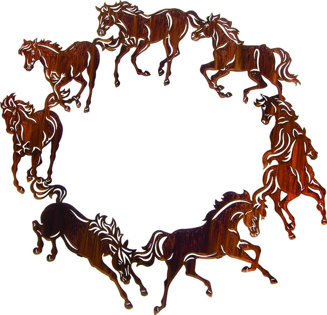 Circle Of Horses Best Sellerlazart – Sanger Metal Art And Gifts For Lazart Metal Art (View 4 of 20)