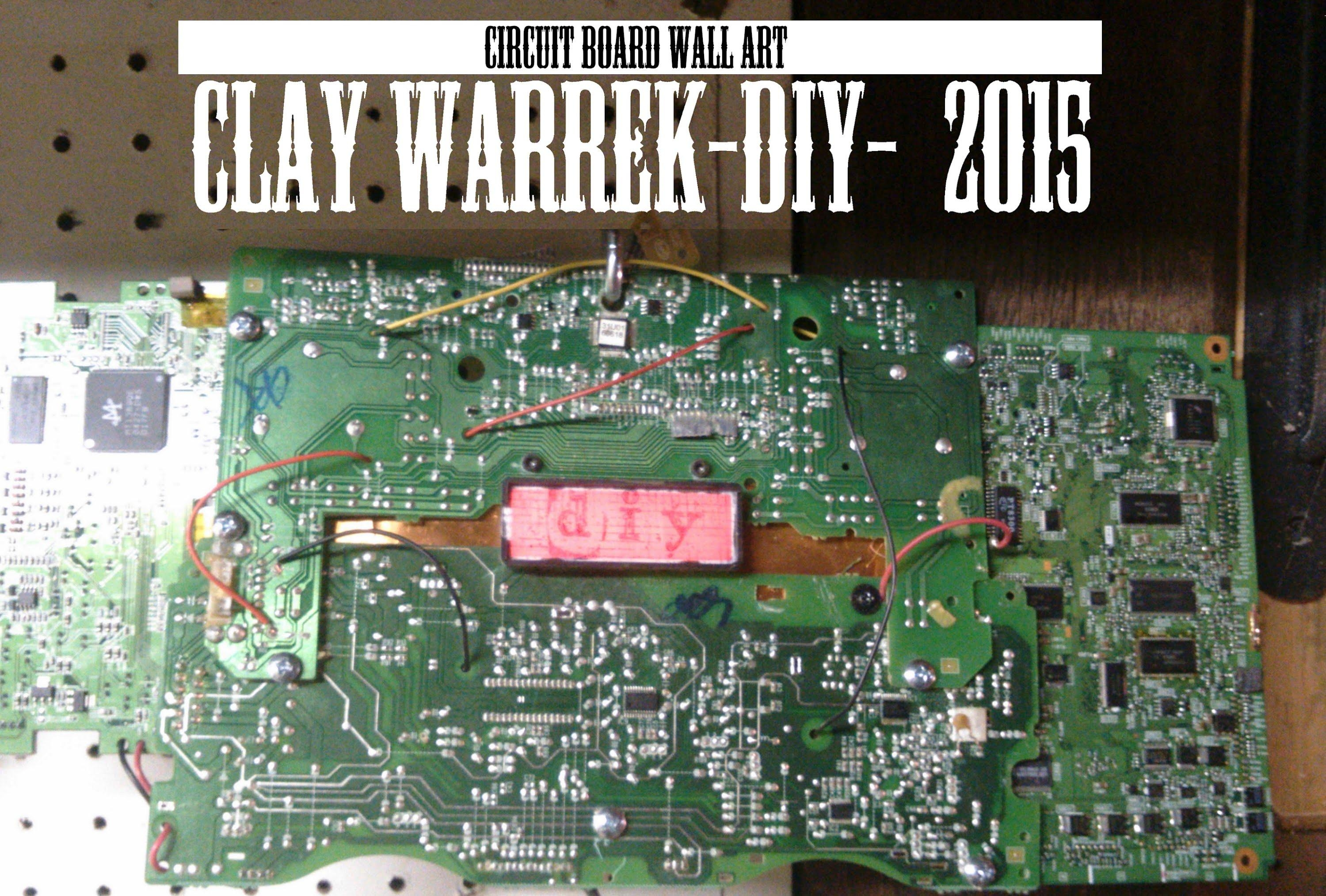 Circuit Board Wall Art Timelapse Build 2015 – Youtube With Regard To Electronic Wall Art (Image 4 of 20)