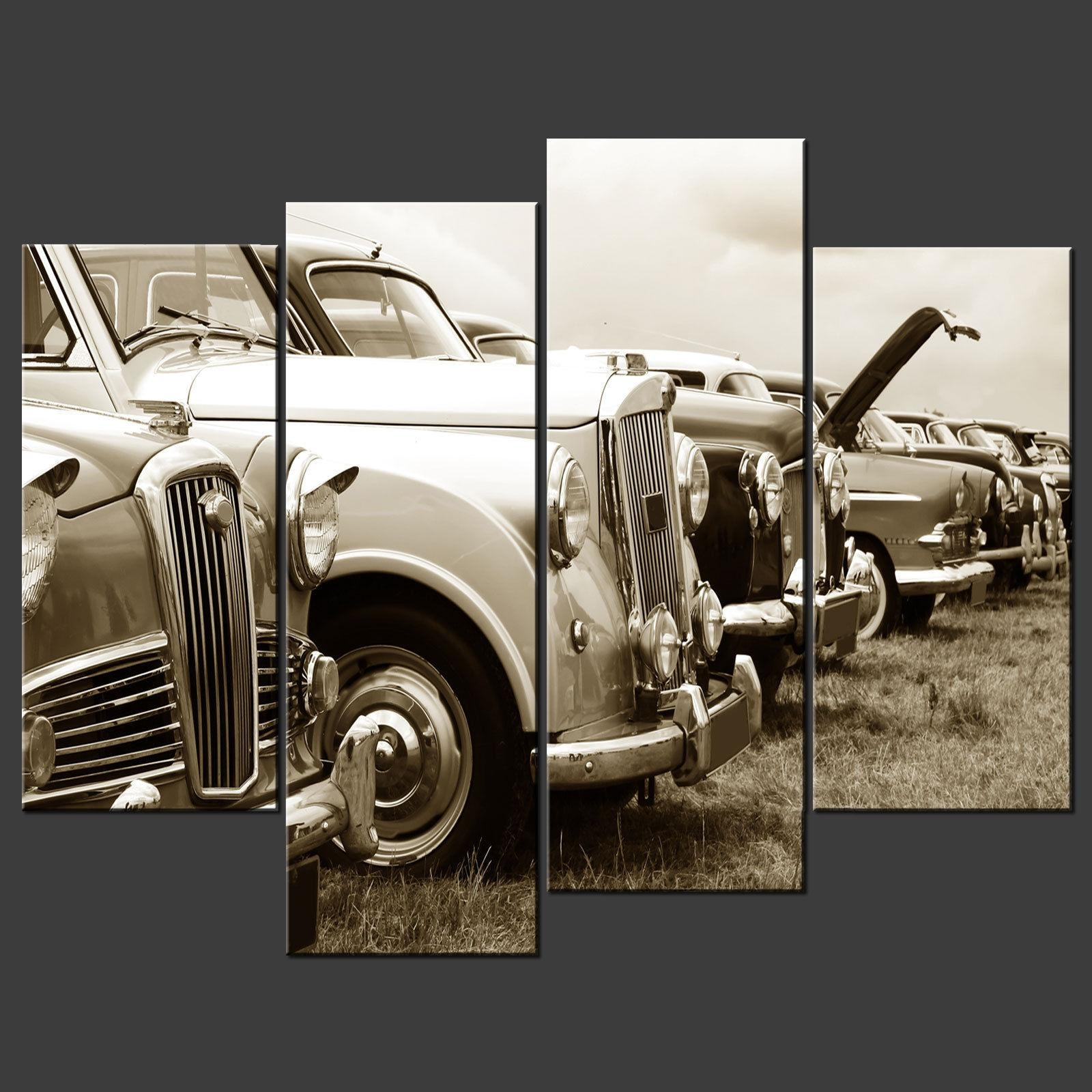Classic Cars Canvas Wall Art Pictures Prints Larger Sizes Pertaining To Classic Car Wall Art (Image 4 of 20)