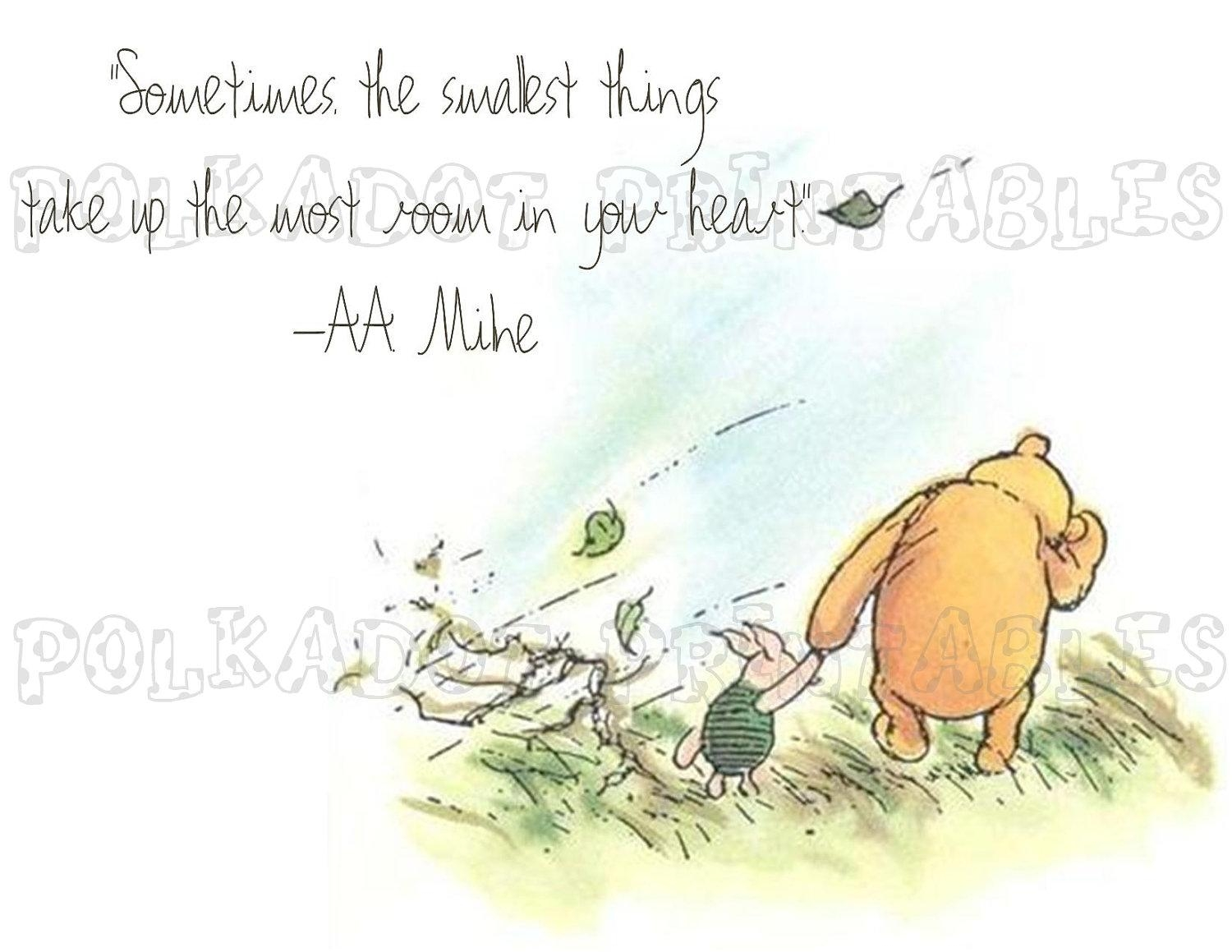 Classic Winnie The Pooh And Piglet Card Instant Download 3 Throughout Classic Pooh Art (Image 4 of 20)