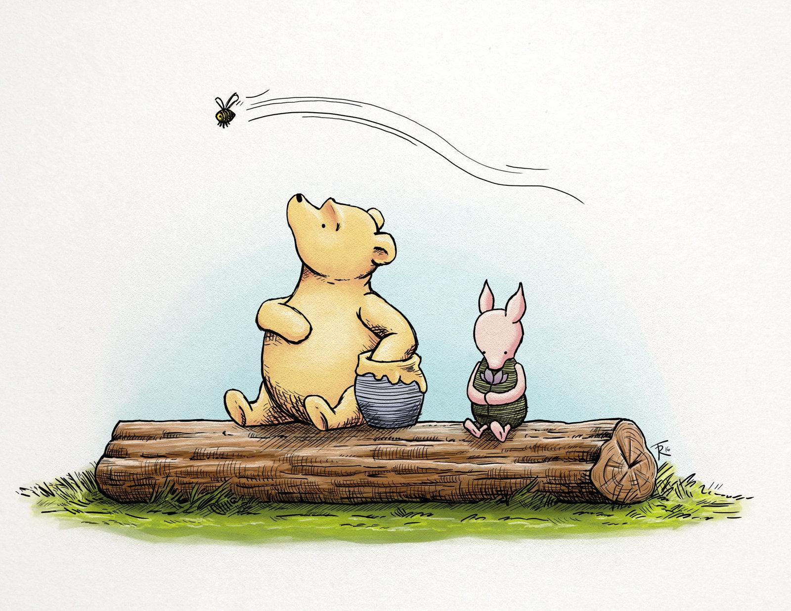 Classic Winnie The Pooh And Pigletsphinkrink On Deviantart With Classic Pooh Art (Image 5 of 20)