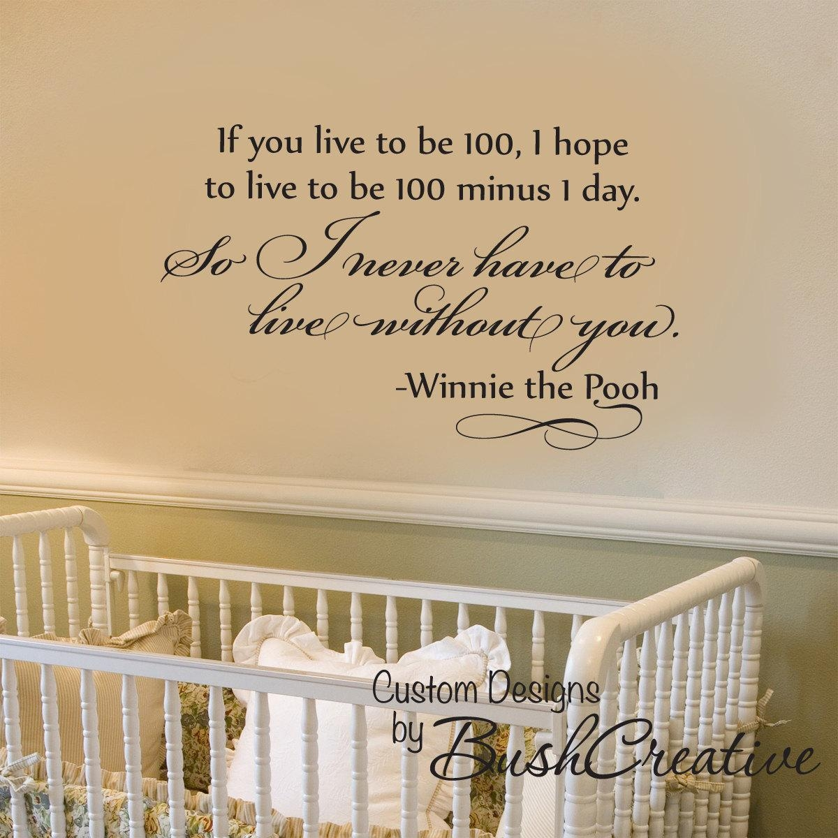 Classic Winnie The Pooh Baby Room Ideas | Design Ideas & Decors Inside Winnie The Pooh Nursery Quotes Wall Art (Image 5 of 20)