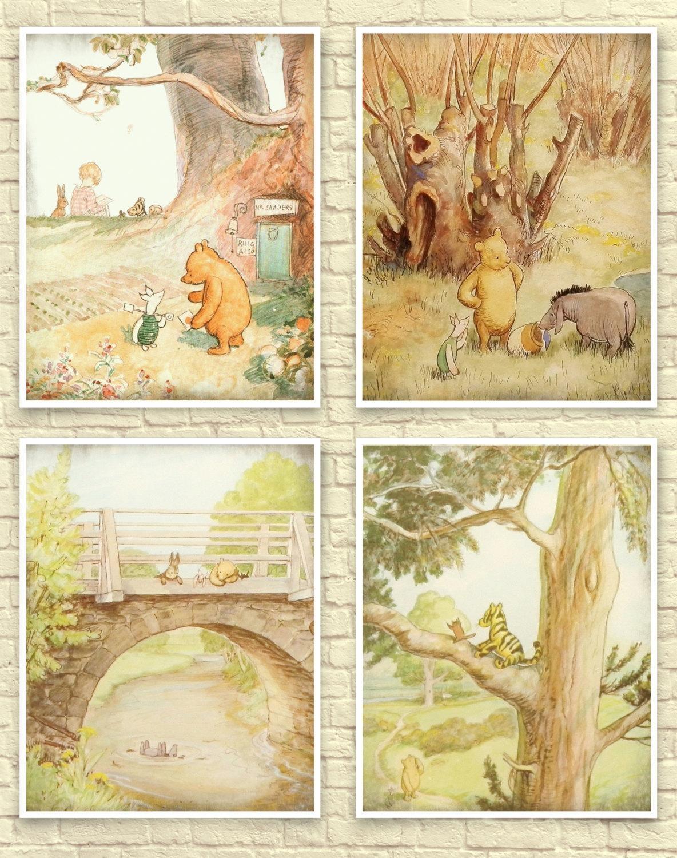Classic Winnie The Pooh Wall Art Winnie The Pooh Art Print Inside Classic  Pooh Art ( Part 95
