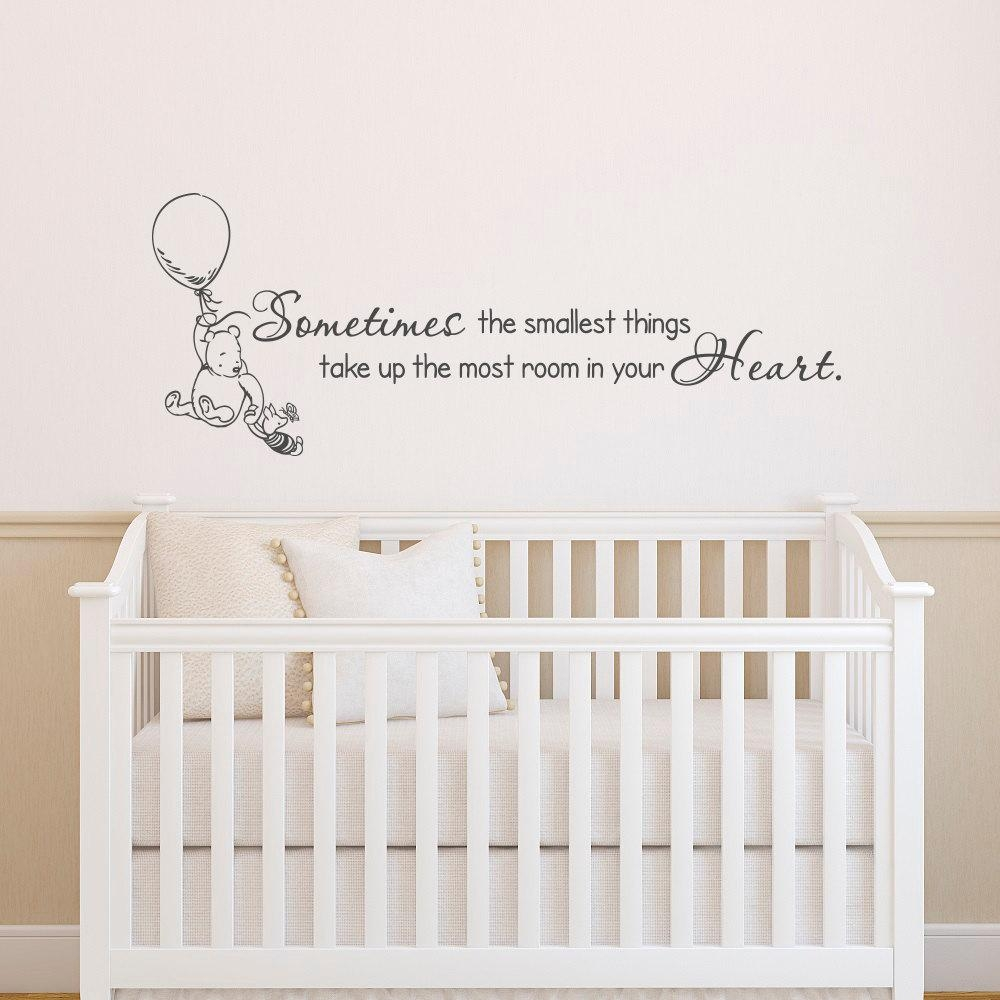 Classic Winnie The Pooh Wall Decals Quotes Sometimes The With Regard To Winnie The Pooh Wall Art For Nursery (View 12 of 20)