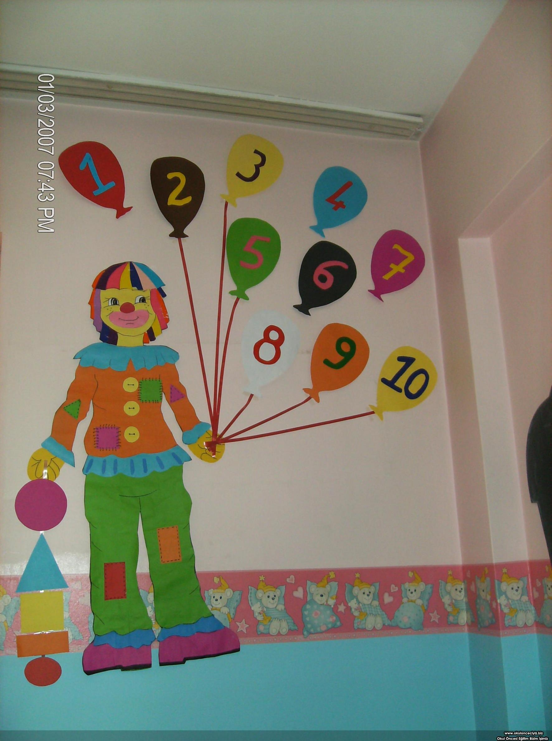 Classroom Wall Number Activities For Preschool (21) « Funnycrafts Within Preschool Wall Art (Image 7 of 20)