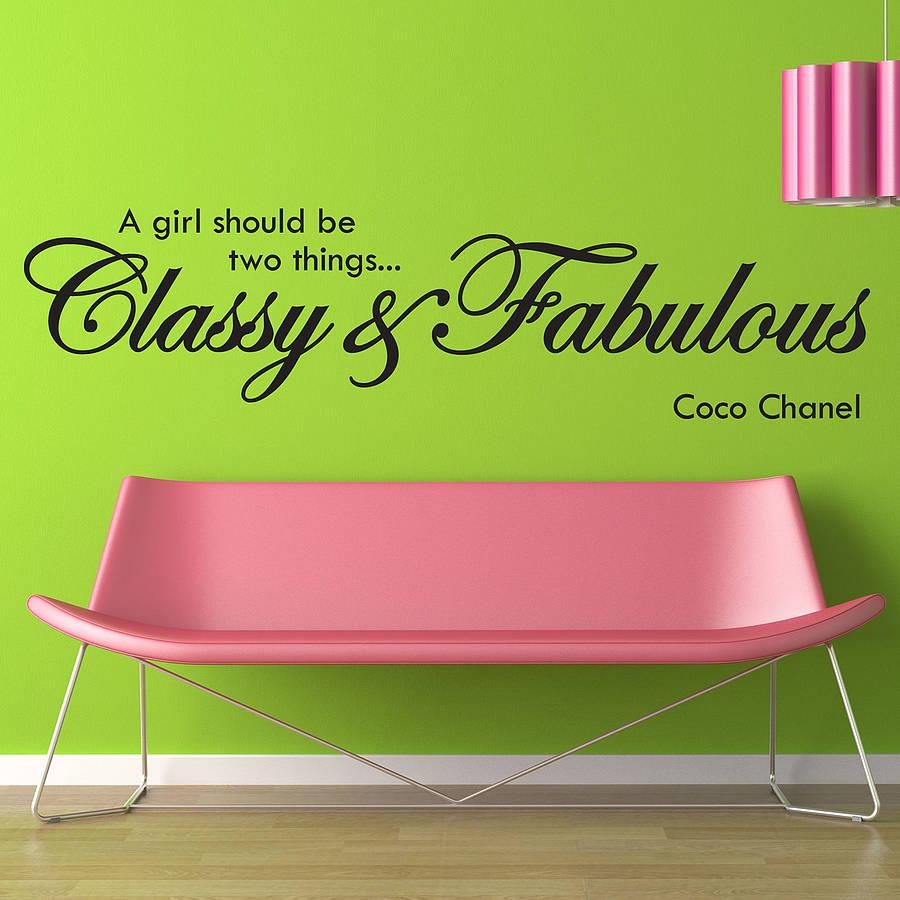 Classy And Fabulous Wall Stickersparkins Interiors Intended For Coco Chanel Wall Decals (Image 6 of 20)